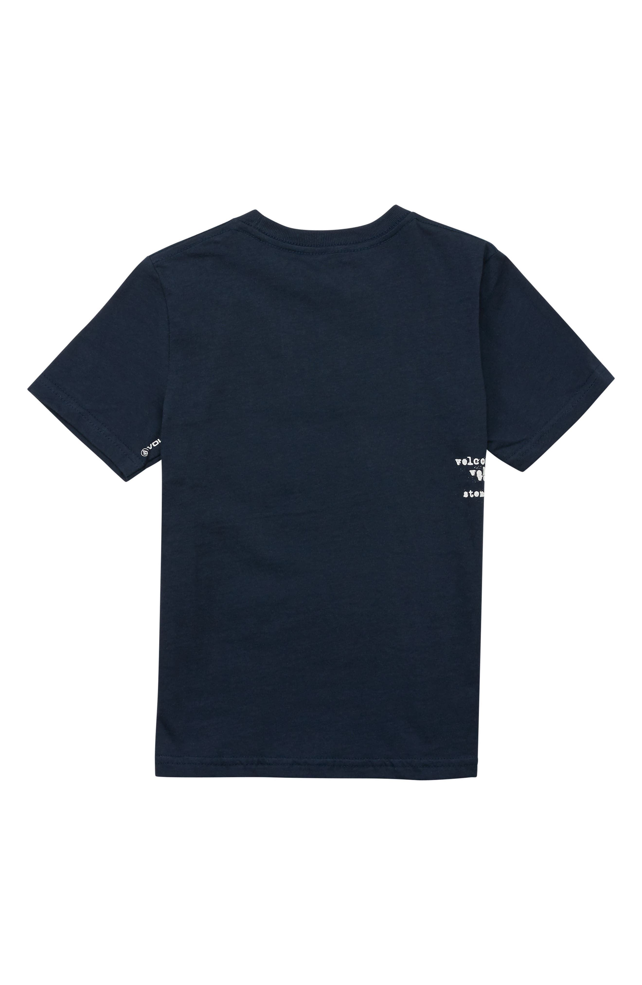 Cross Out Logo T-Shirt,                             Alternate thumbnail 2, color,                             NAVY