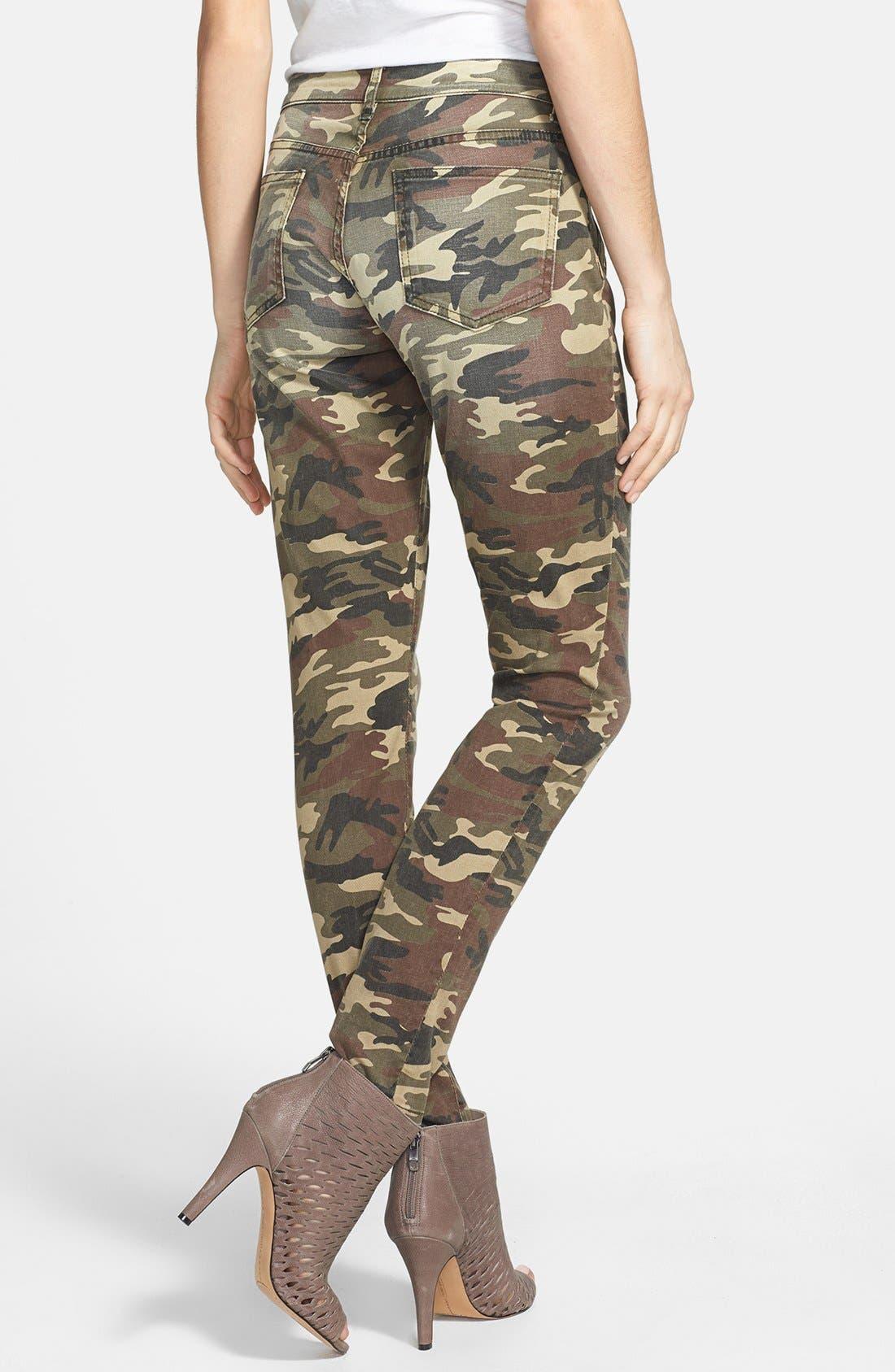 'Mia' Camo Skinny Jeans,                             Alternate thumbnail 2, color,                             317