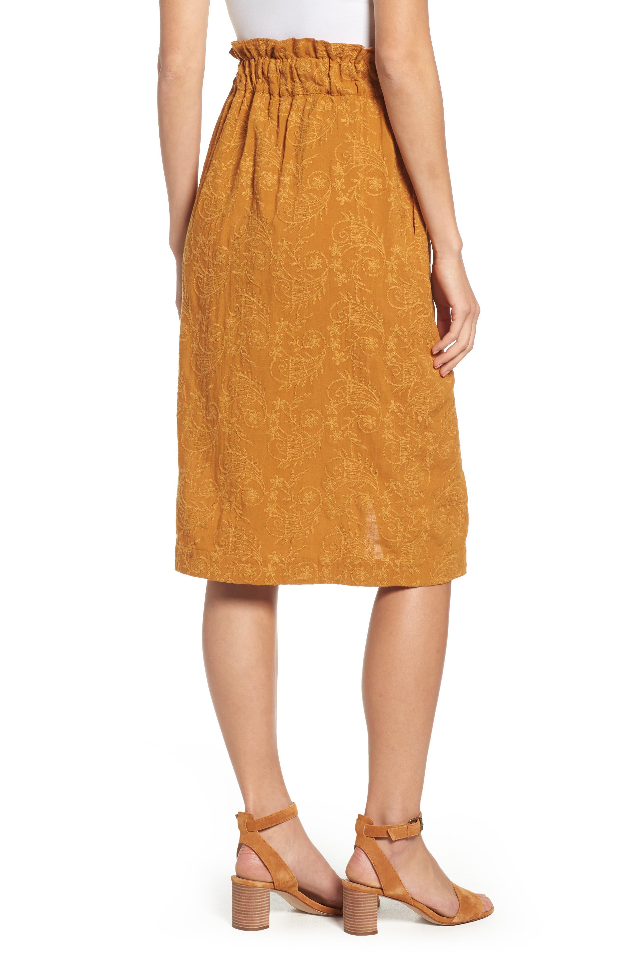 Embroidered Paperbag Waist Skirt,                             Alternate thumbnail 2, color,                             700
