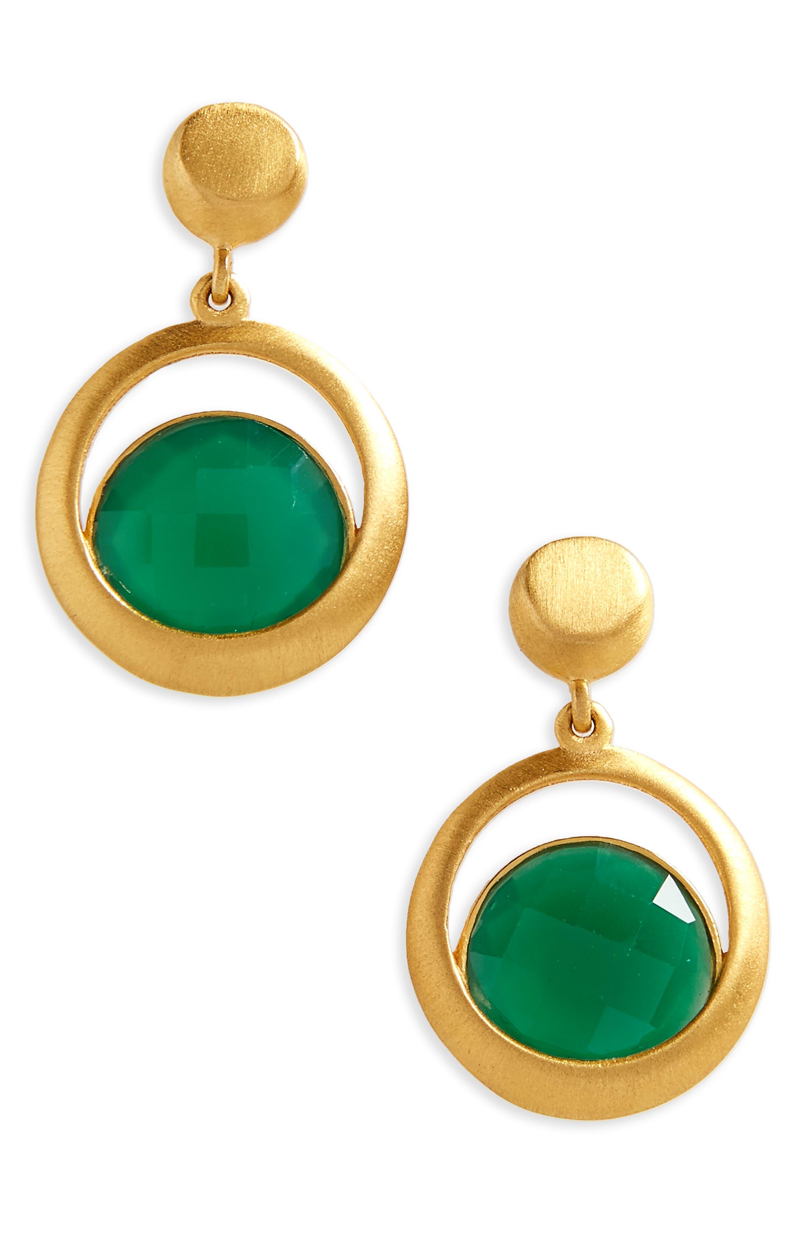 Lapa Semiprecious Stone Drop Earrings,                             Main thumbnail 2, color,