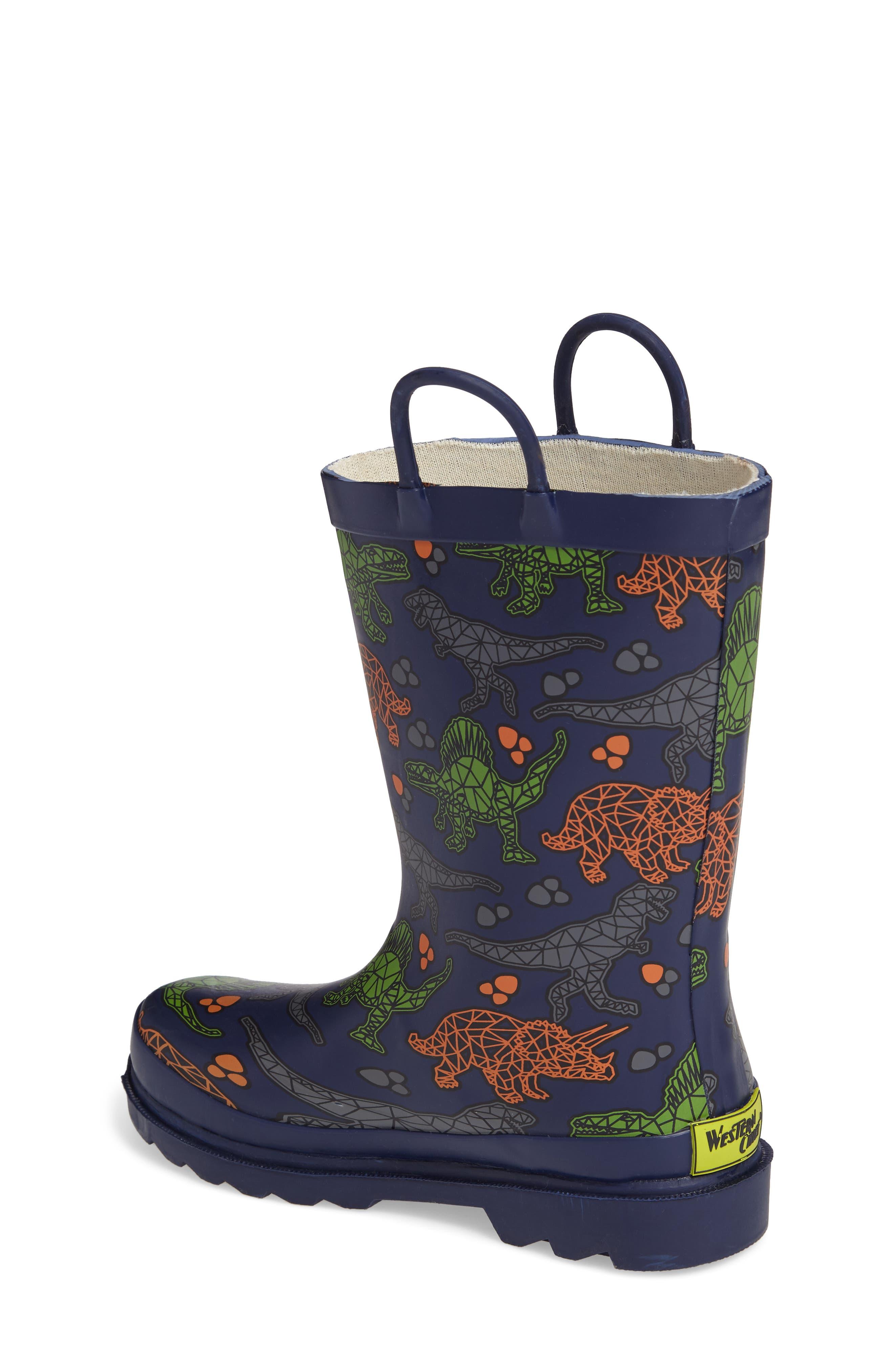 Dino Facets Rain Boot,                             Alternate thumbnail 2, color,                             421