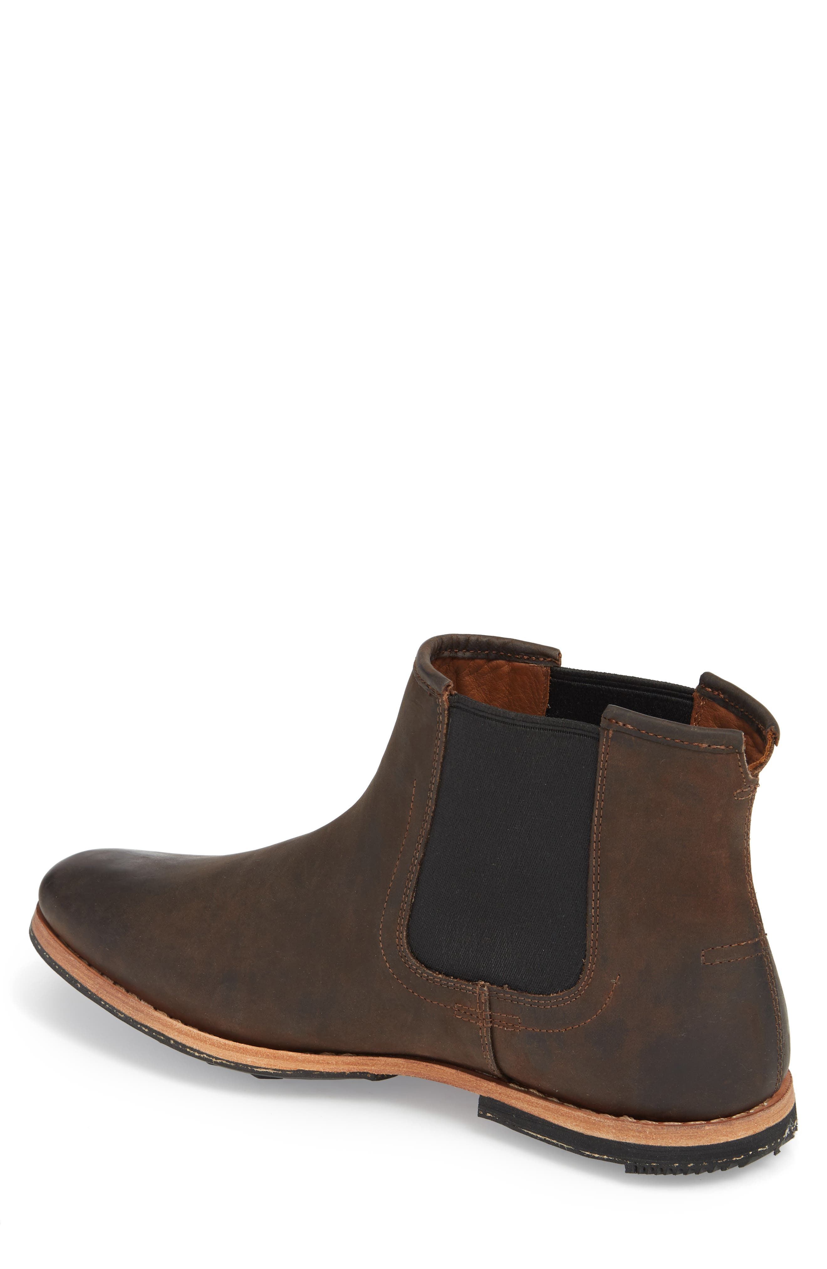 Wodehouse History Chelsea Boot,                             Alternate thumbnail 2, color,                             BROWN LEATHER