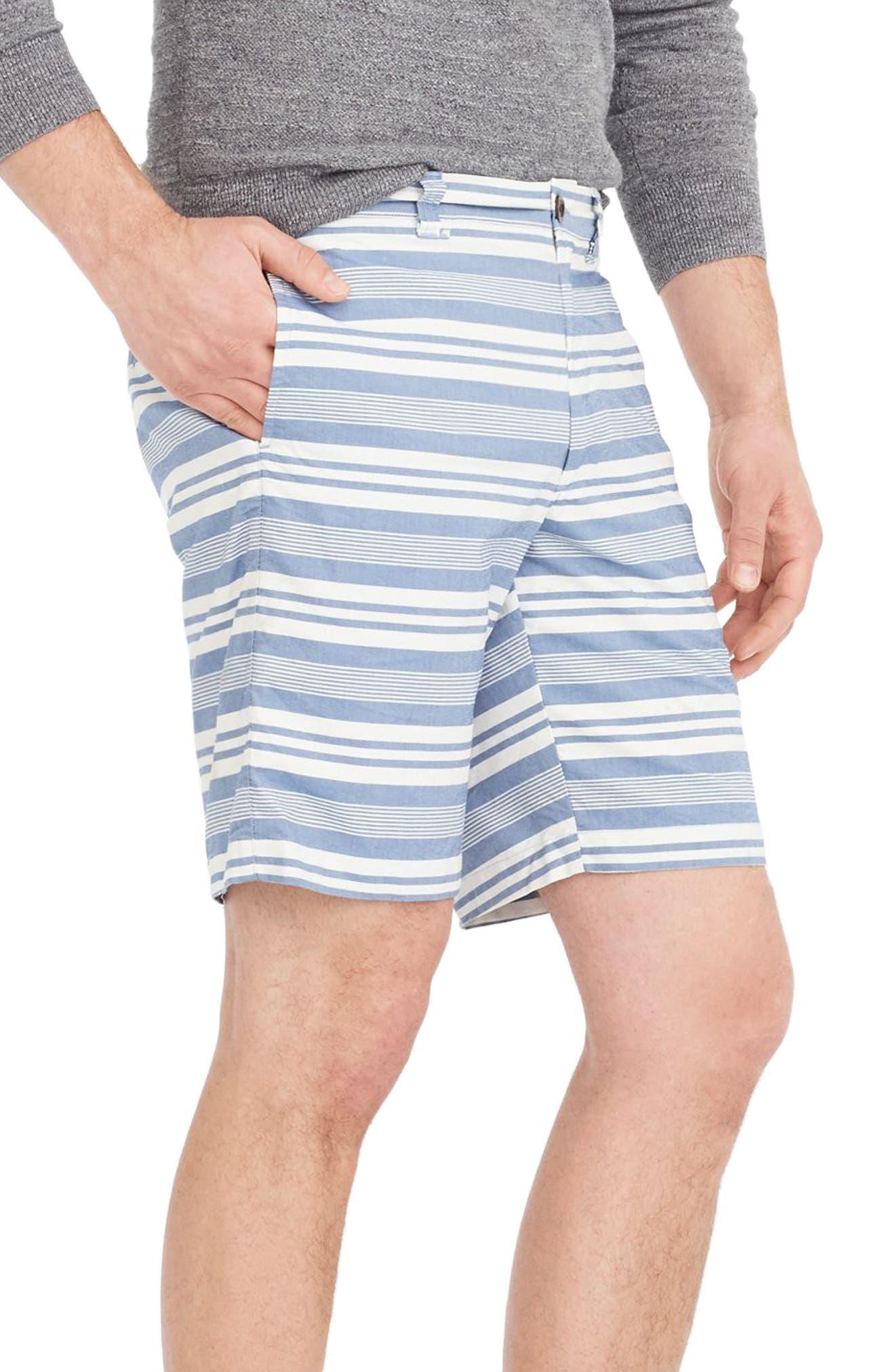 Stripe Oxford Shorts,                             Alternate thumbnail 3, color,                             400