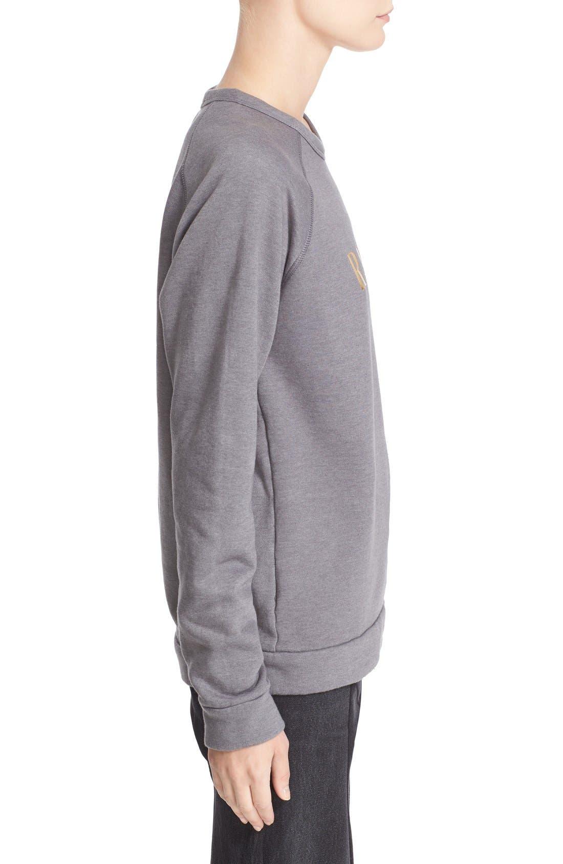 'Radarte' Foil Sweatshirt,                             Alternate thumbnail 4, color,                             022