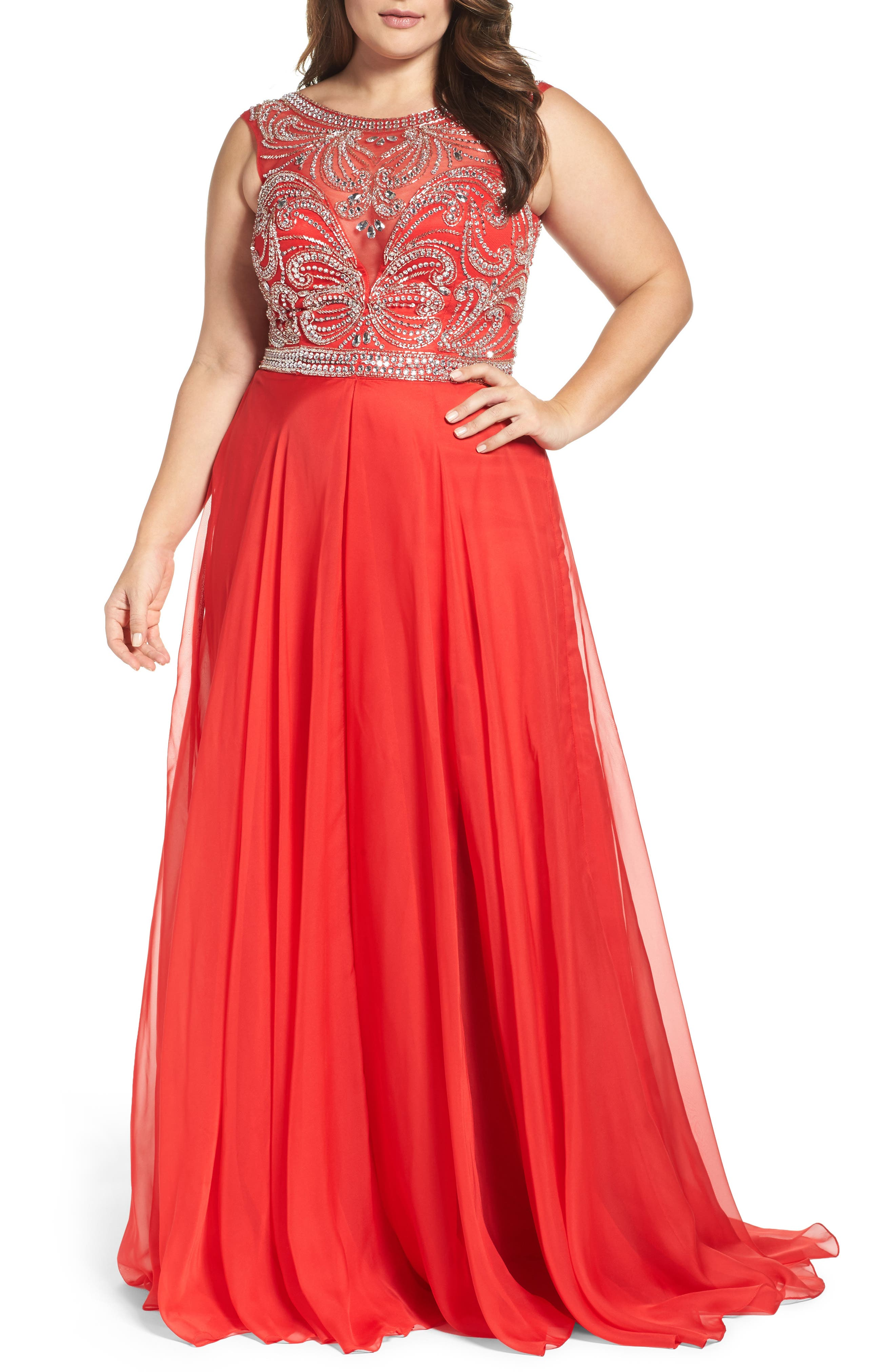 Embellished Gown,                         Main,                         color, 610