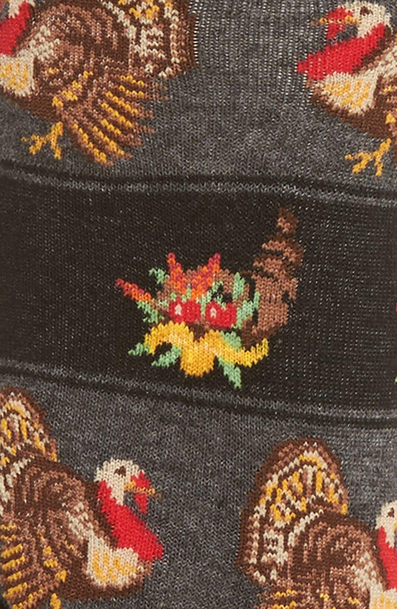 Thanksgiving Crew Socks,                             Alternate thumbnail 2, color,                             001