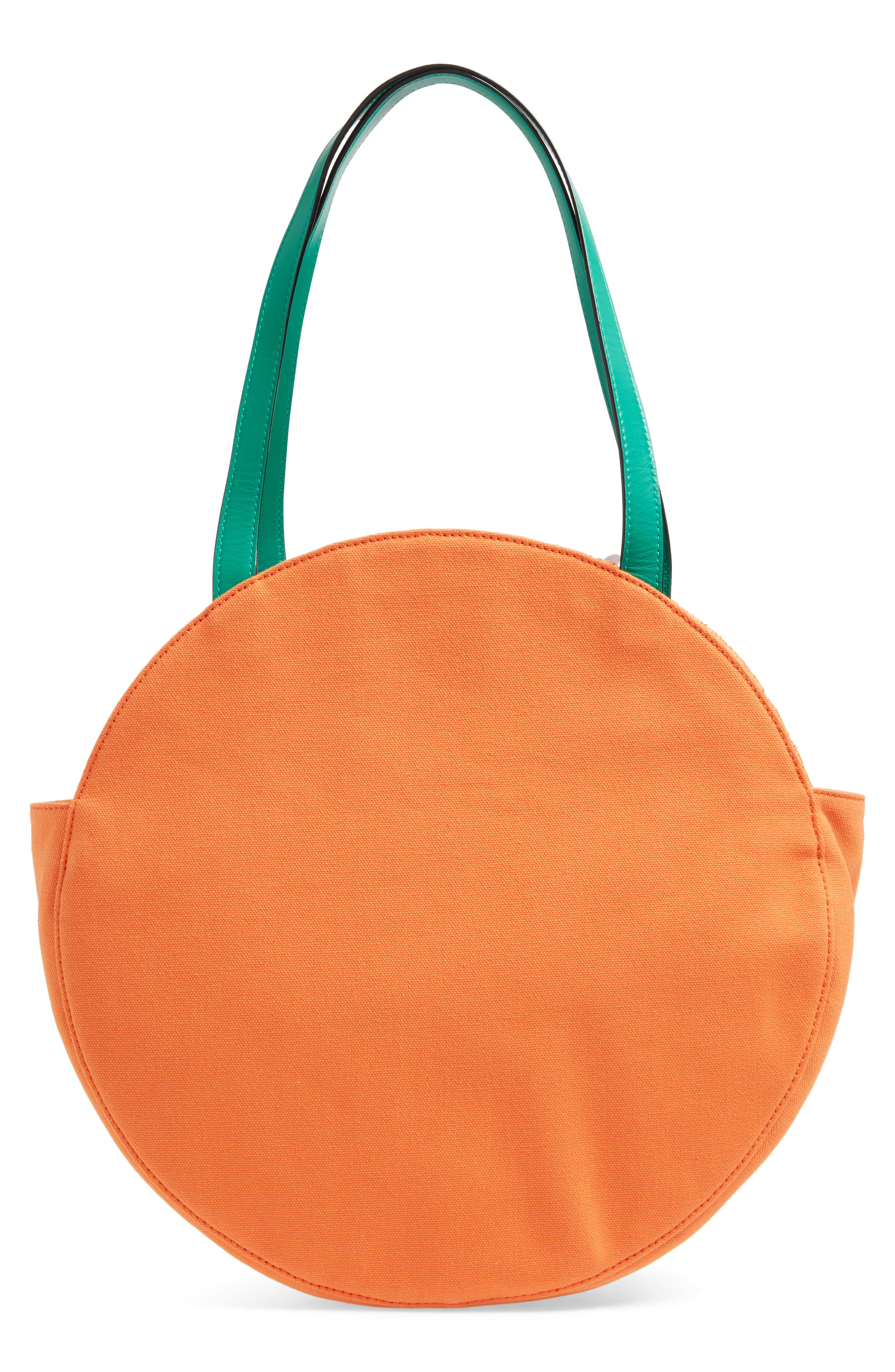 spice things up orange tote,                             Alternate thumbnail 3, color,                             800