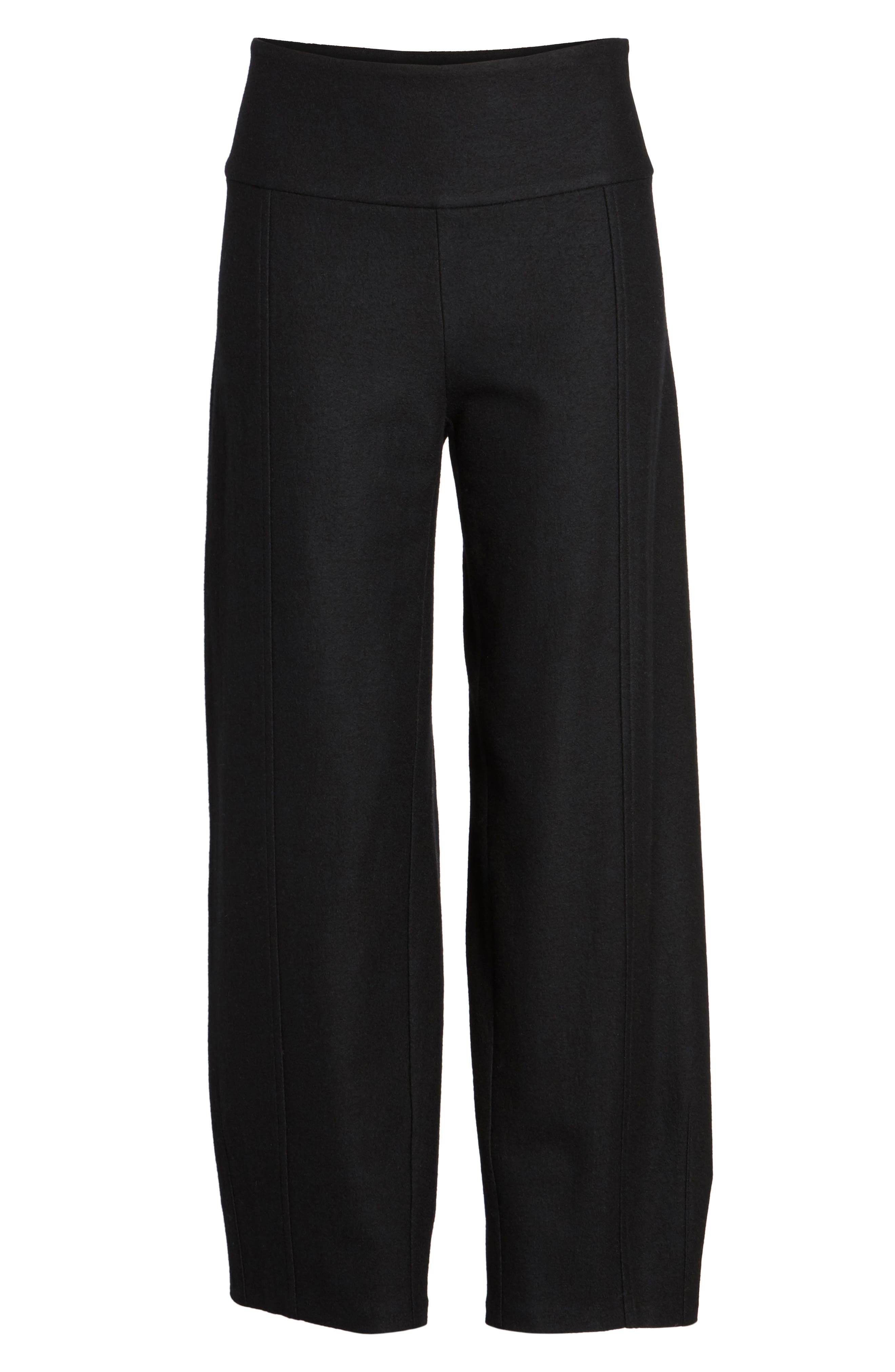 Wool Ankle Pants,                             Alternate thumbnail 6, color,                             001