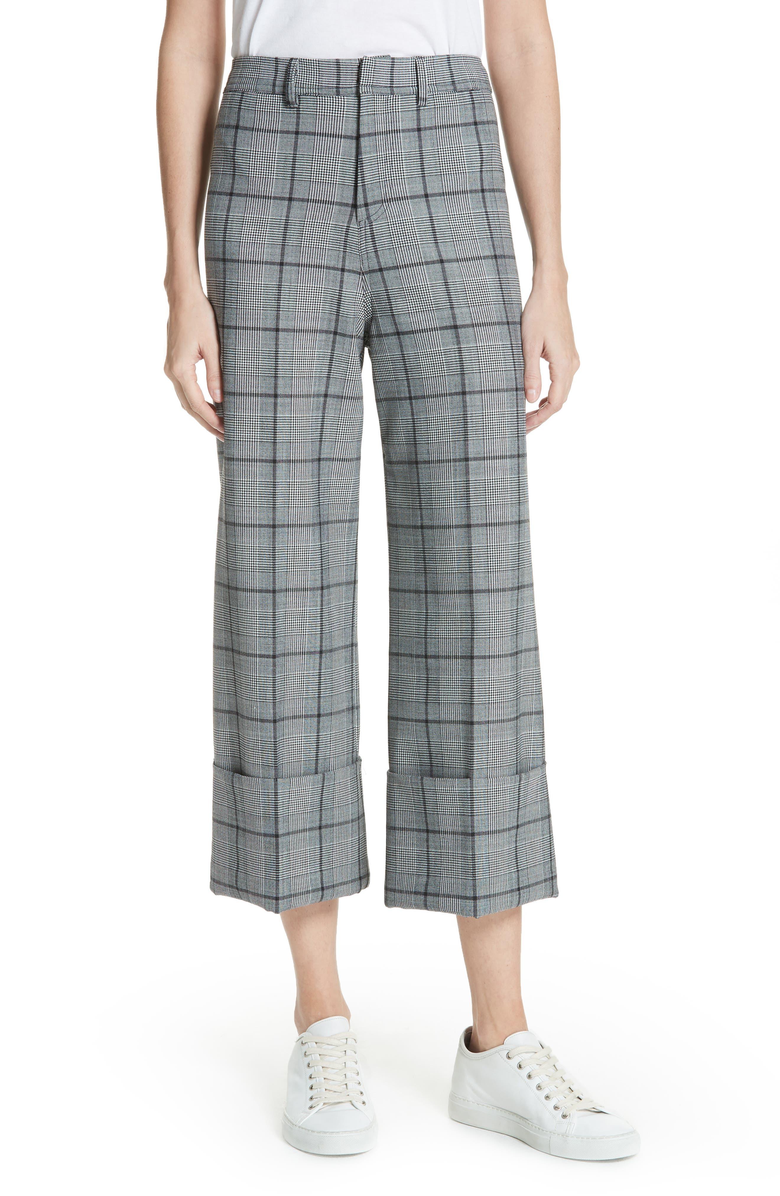 Bacall Cuff Crop Wide Leg Pants,                             Main thumbnail 1, color,                             028