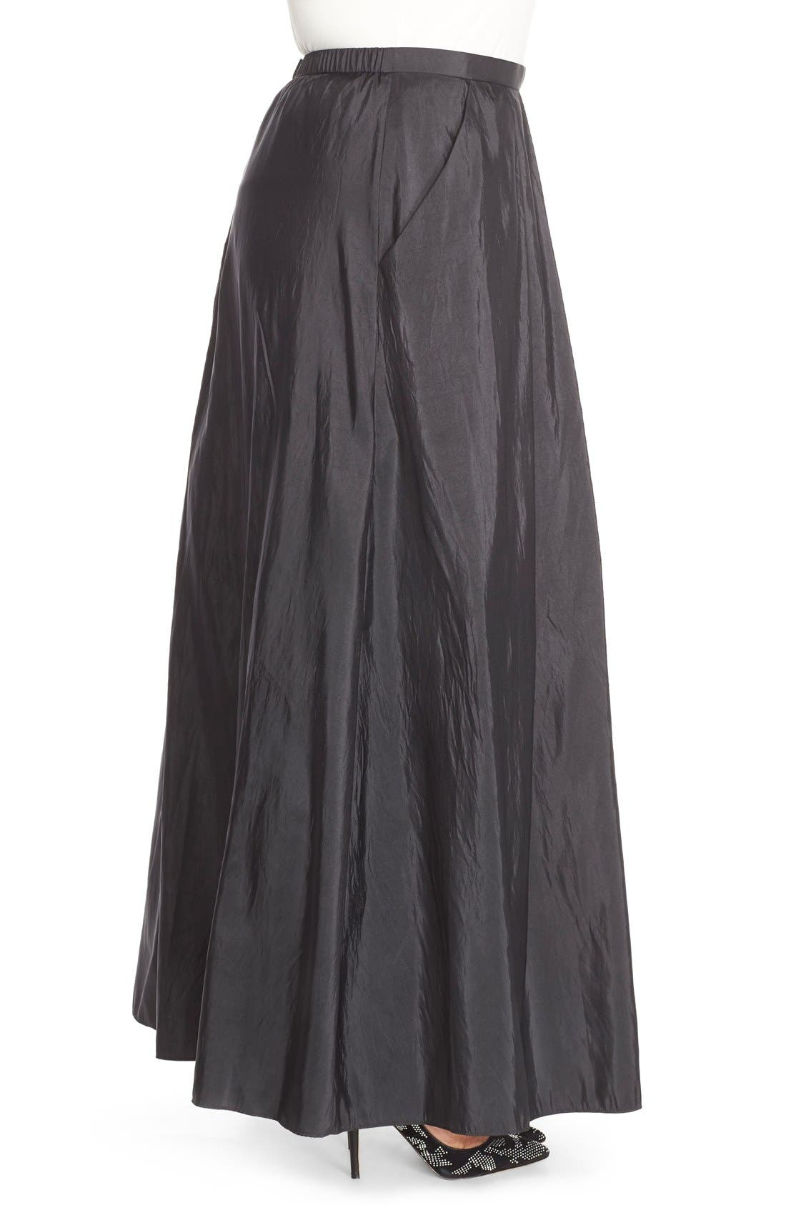 Taffeta Ballgown Skirt,                             Alternate thumbnail 5, color,                             BLACK