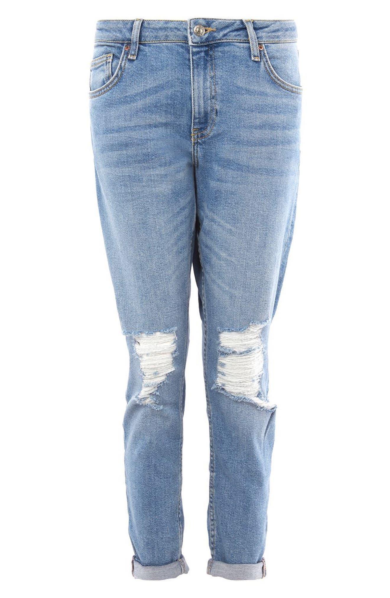 Lucas Rip Boyfriend Jeans,                             Alternate thumbnail 3, color,
