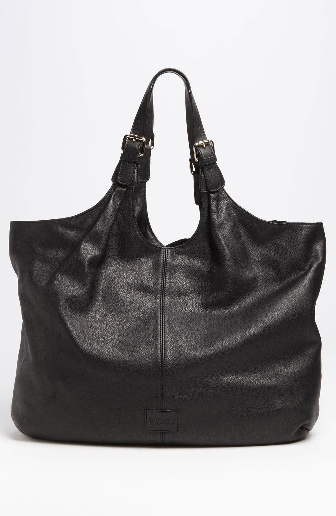 'Bow' Leather Hobo,                             Alternate thumbnail 5, color,                             002