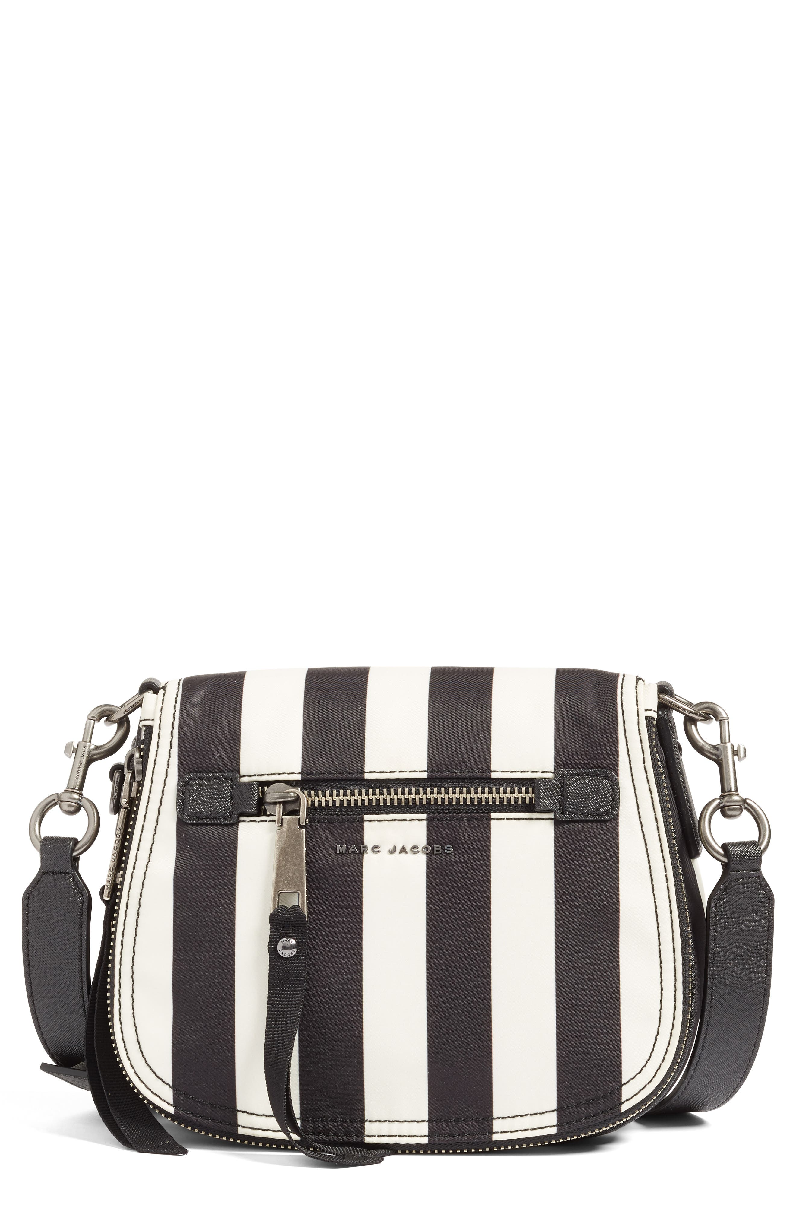 Trooper - Stripes Small Nylon Crossbody Bag, Main, color, 001
