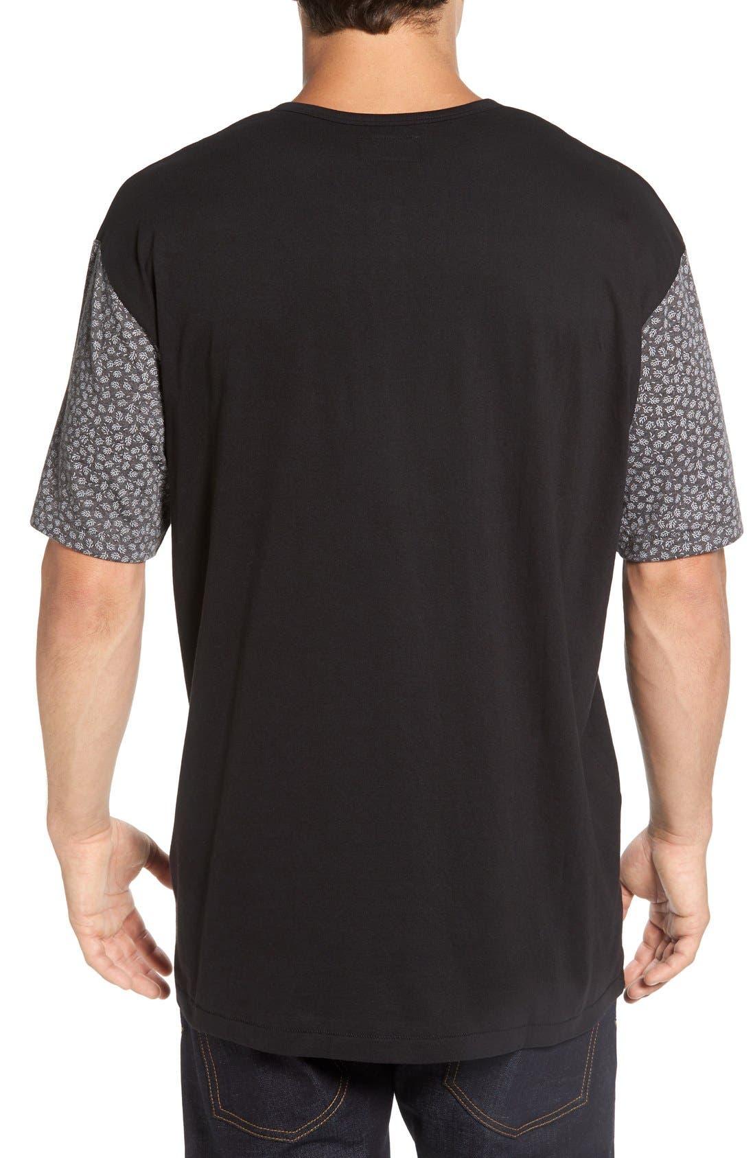 'Harper' Short Sleeve Pocket Henley T-Shirt,                             Alternate thumbnail 2, color,                             001