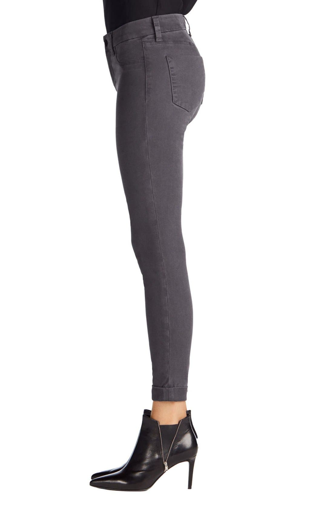 'Anja' Cuffed Crop Skinny Jeans,                             Alternate thumbnail 26, color,