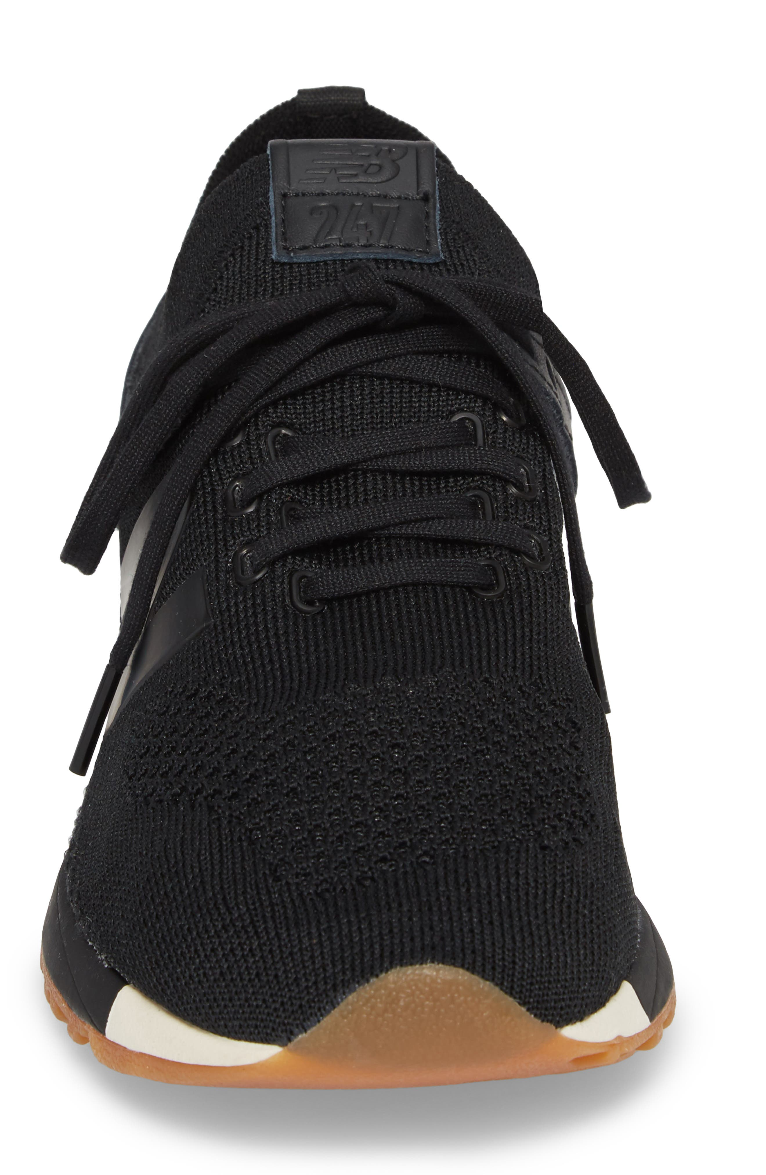 247 Decon Knit Sneaker,                             Alternate thumbnail 4, color,                             001