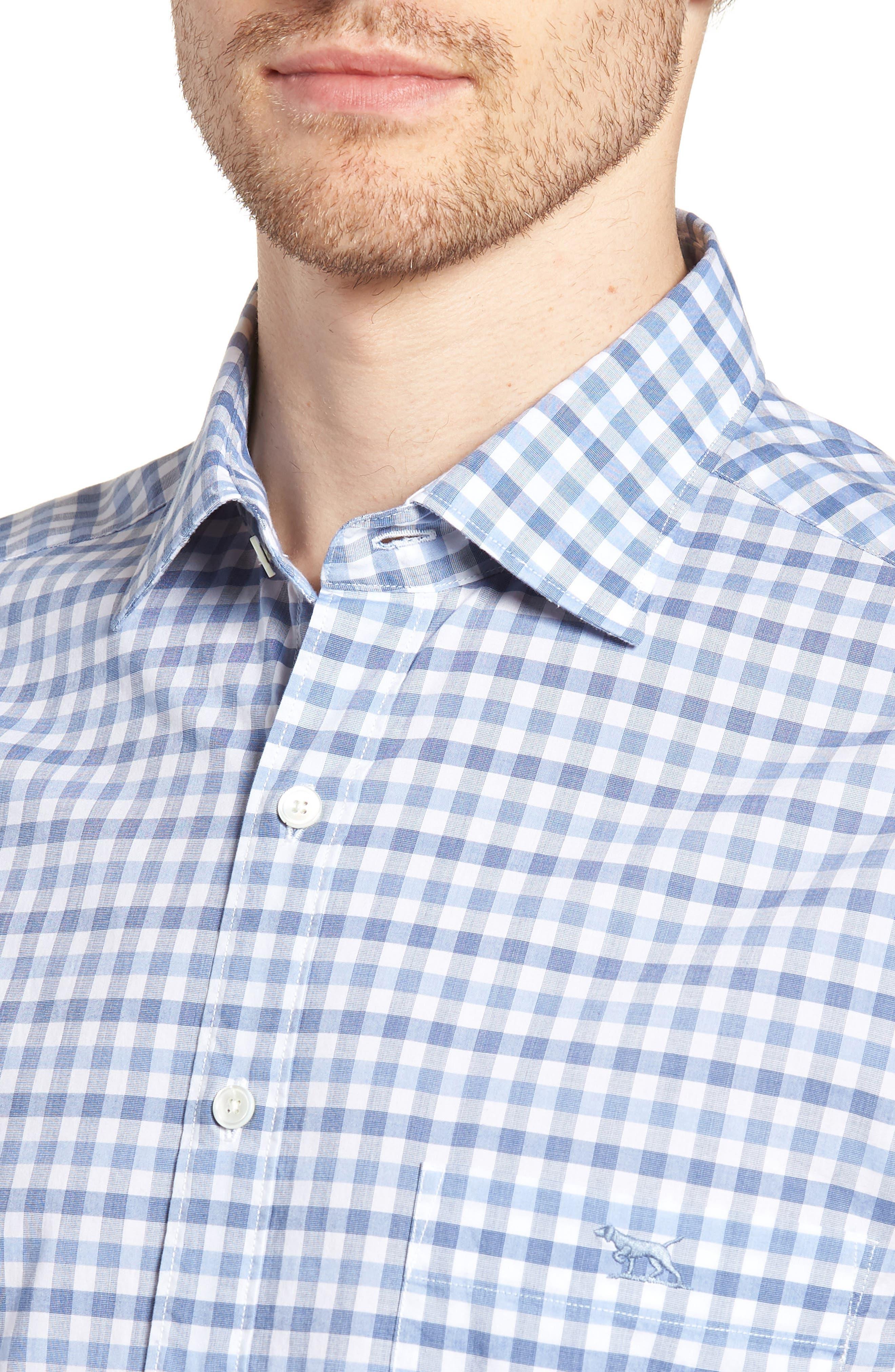 Shorecliffe Regular Fit Gingham Sport Shirt,                             Alternate thumbnail 4, color,                             414