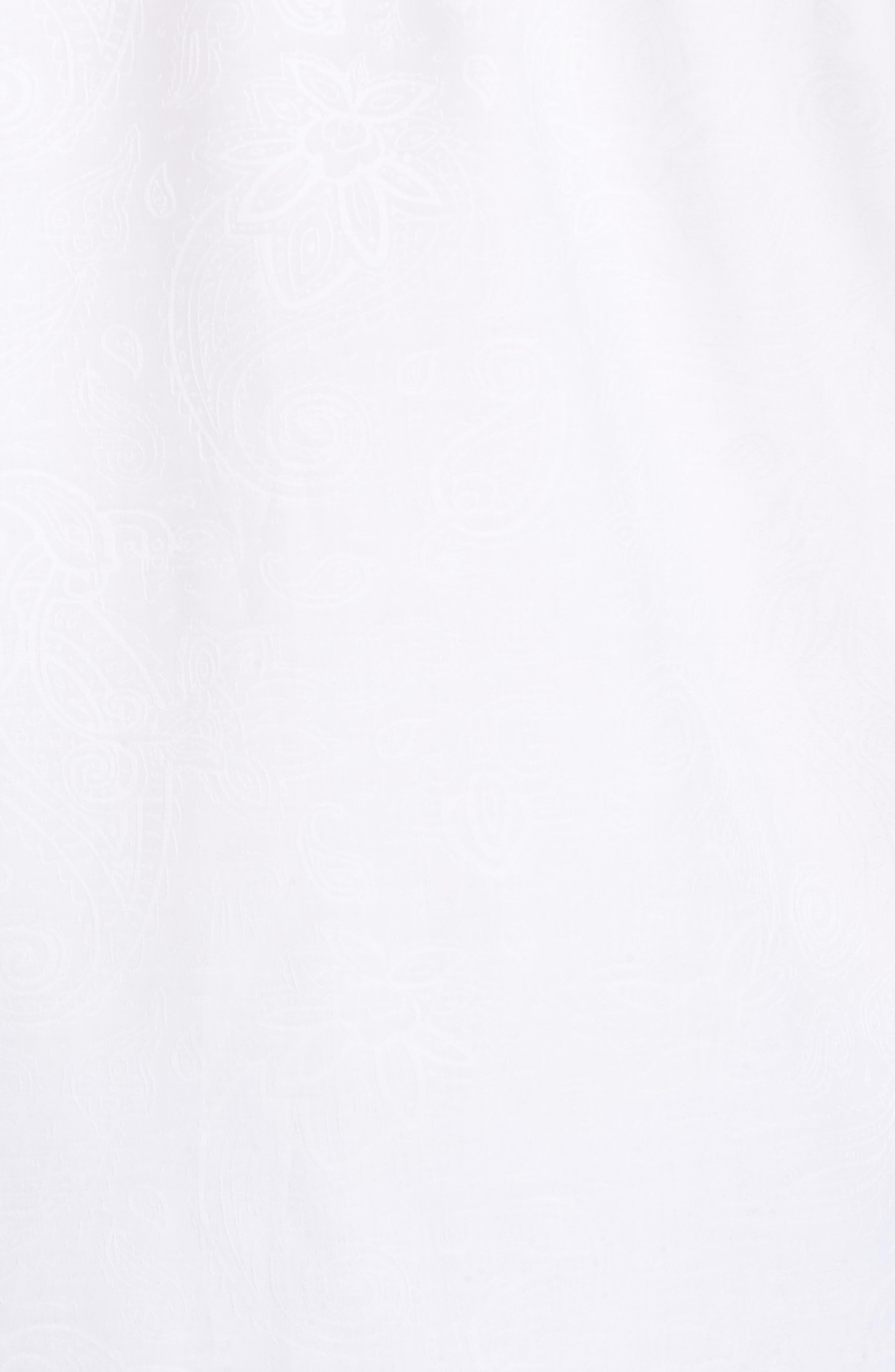 Shaped Fit Sport Shirt,                             Alternate thumbnail 5, color,                             WHITE
