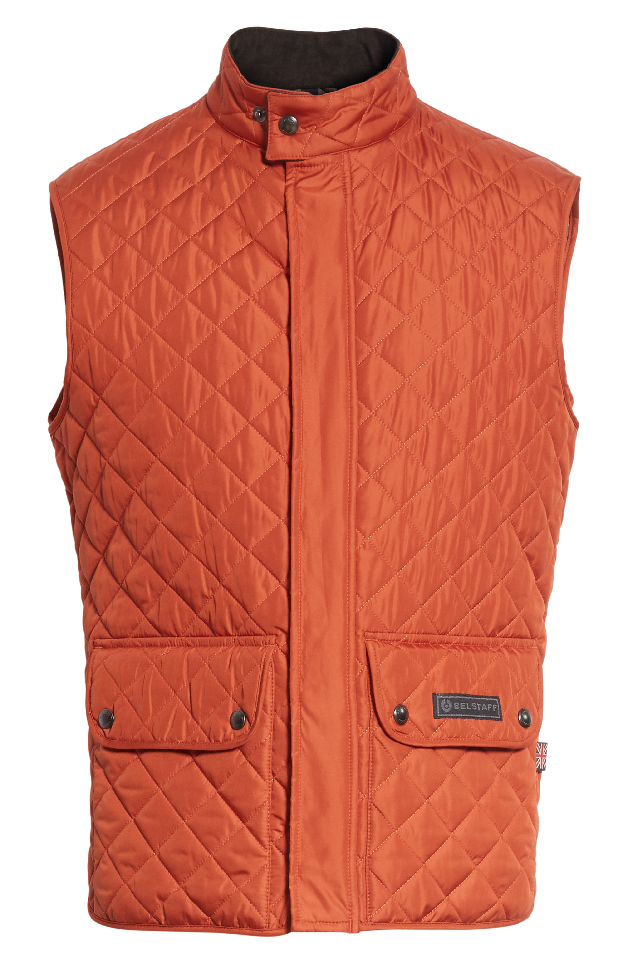 Waistcoat Tech Quilted Vest,                             Alternate thumbnail 5, color,                             BRIGHT TAMERIND