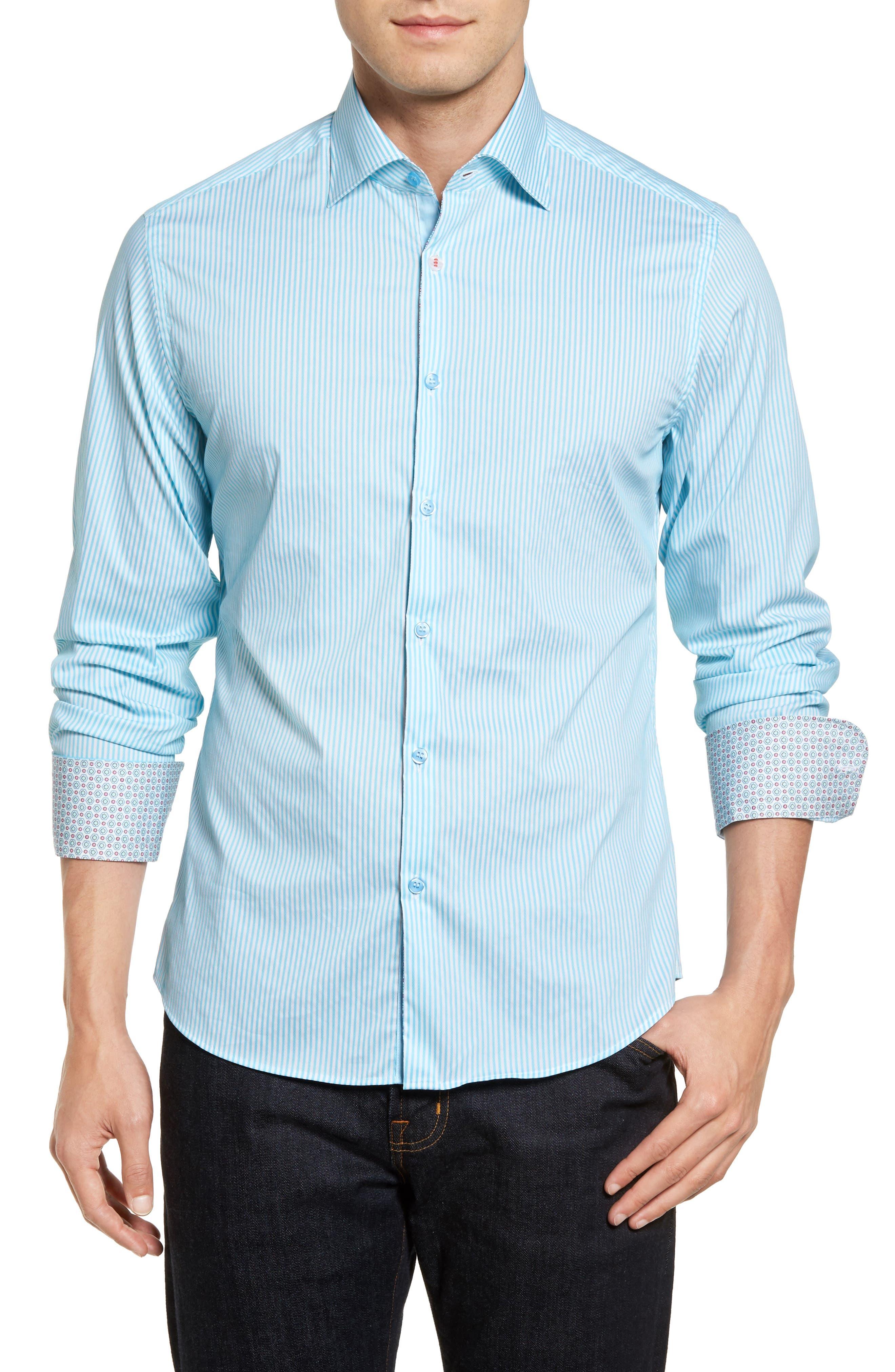 Technical Stripe Sport Shirt,                             Main thumbnail 2, color,