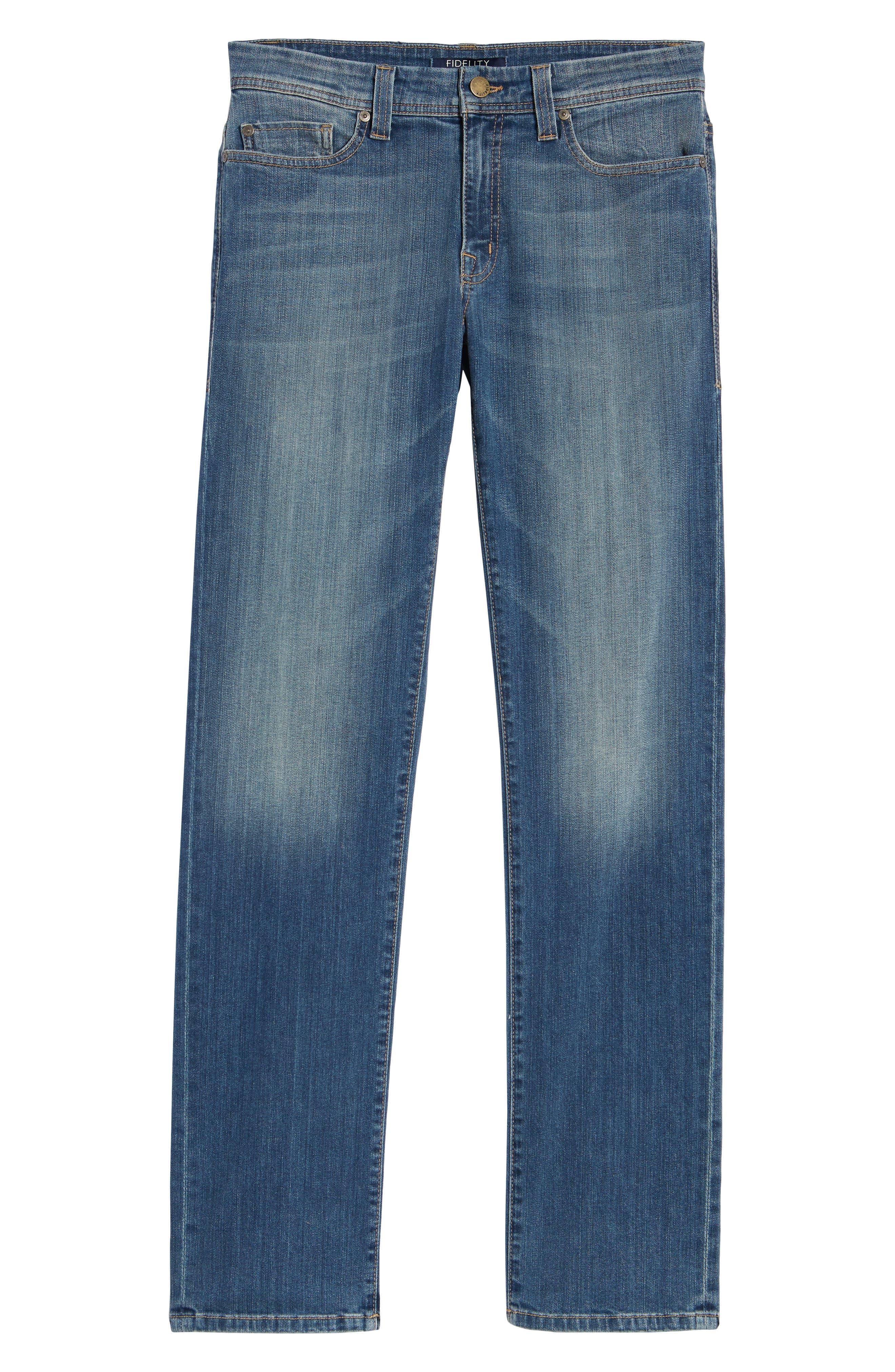 Jimmy Slim Straight Leg Jeans,                             Alternate thumbnail 6, color,                             SYNDICATE BLUE