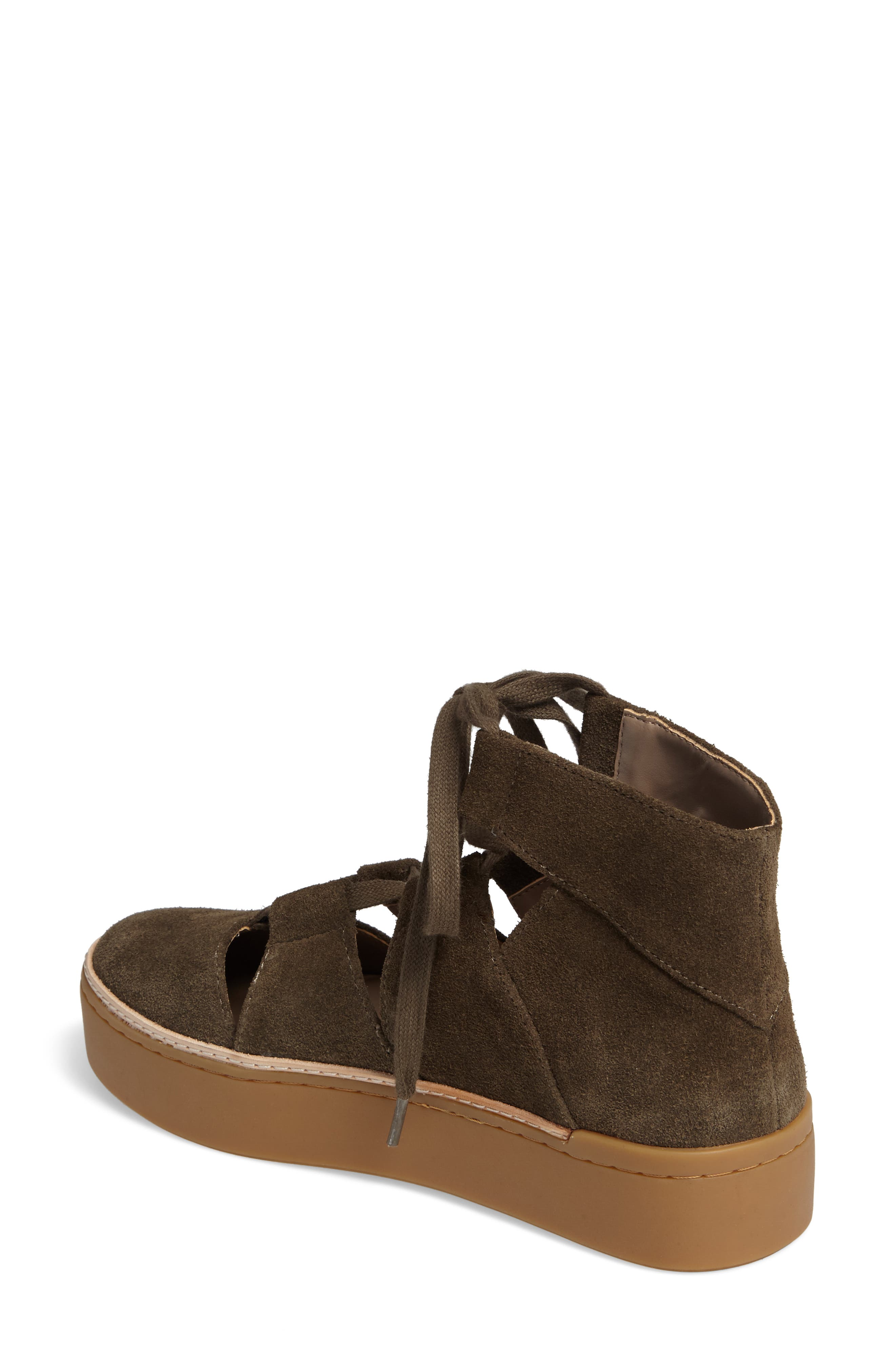 M4D3 Savanah Ghillie Platform Sneaker,                             Alternate thumbnail 2, color,                             DEEP TAUPE LEATHER