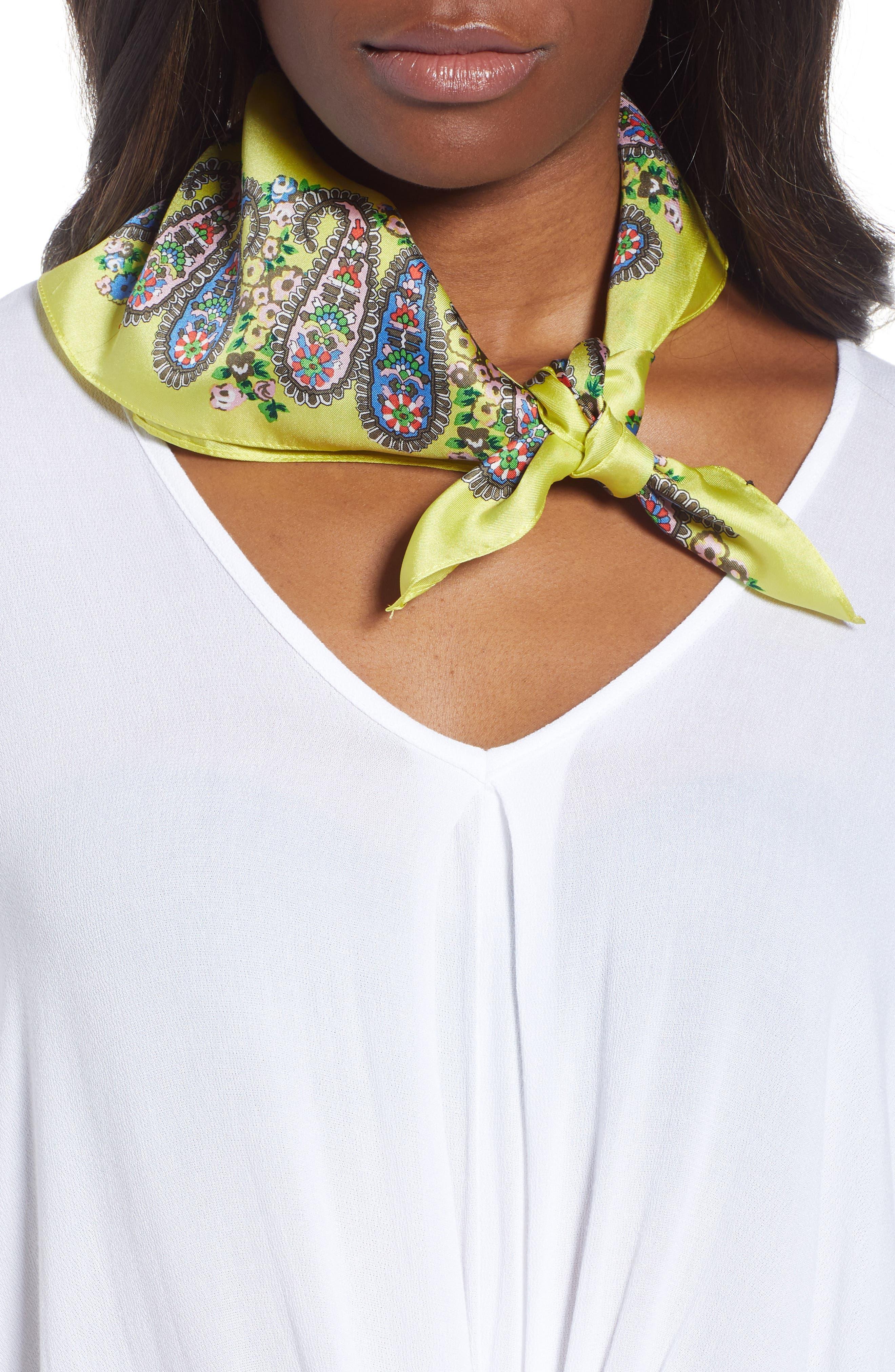 Penelope Paisley Silk Bandana,                             Main thumbnail 1, color,                             325