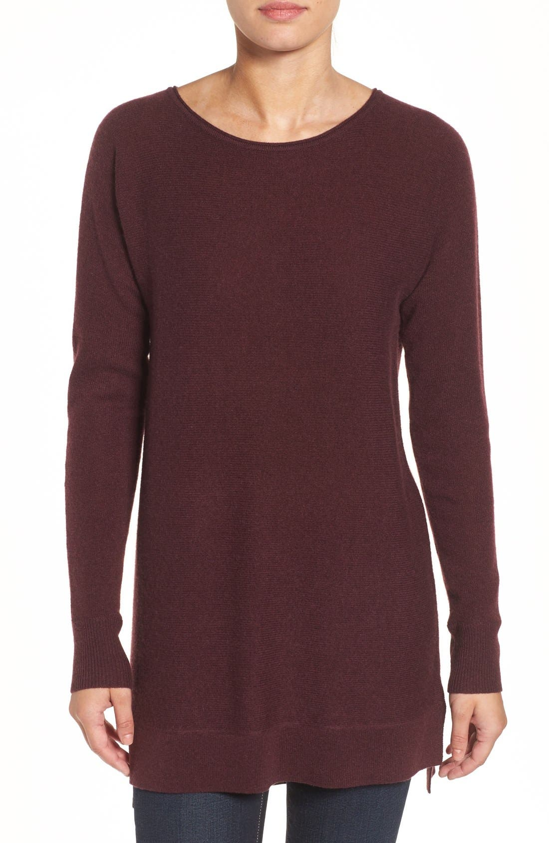 High/Low Wool & Cashmere Tunic Sweater,                             Main thumbnail 17, color,