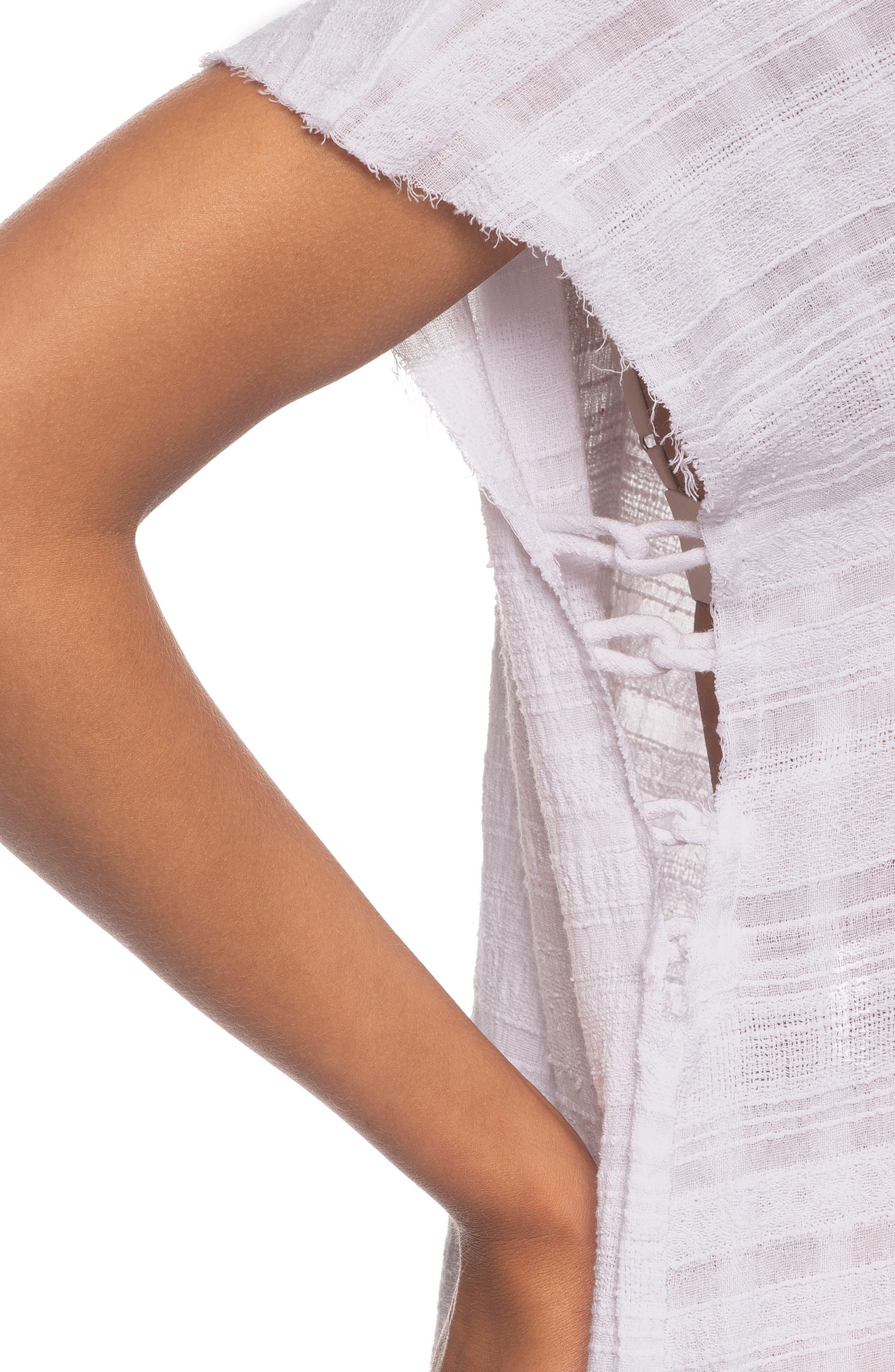 Tasha Cover-Up Maxi Dress,                             Alternate thumbnail 4, color,                             WHITE