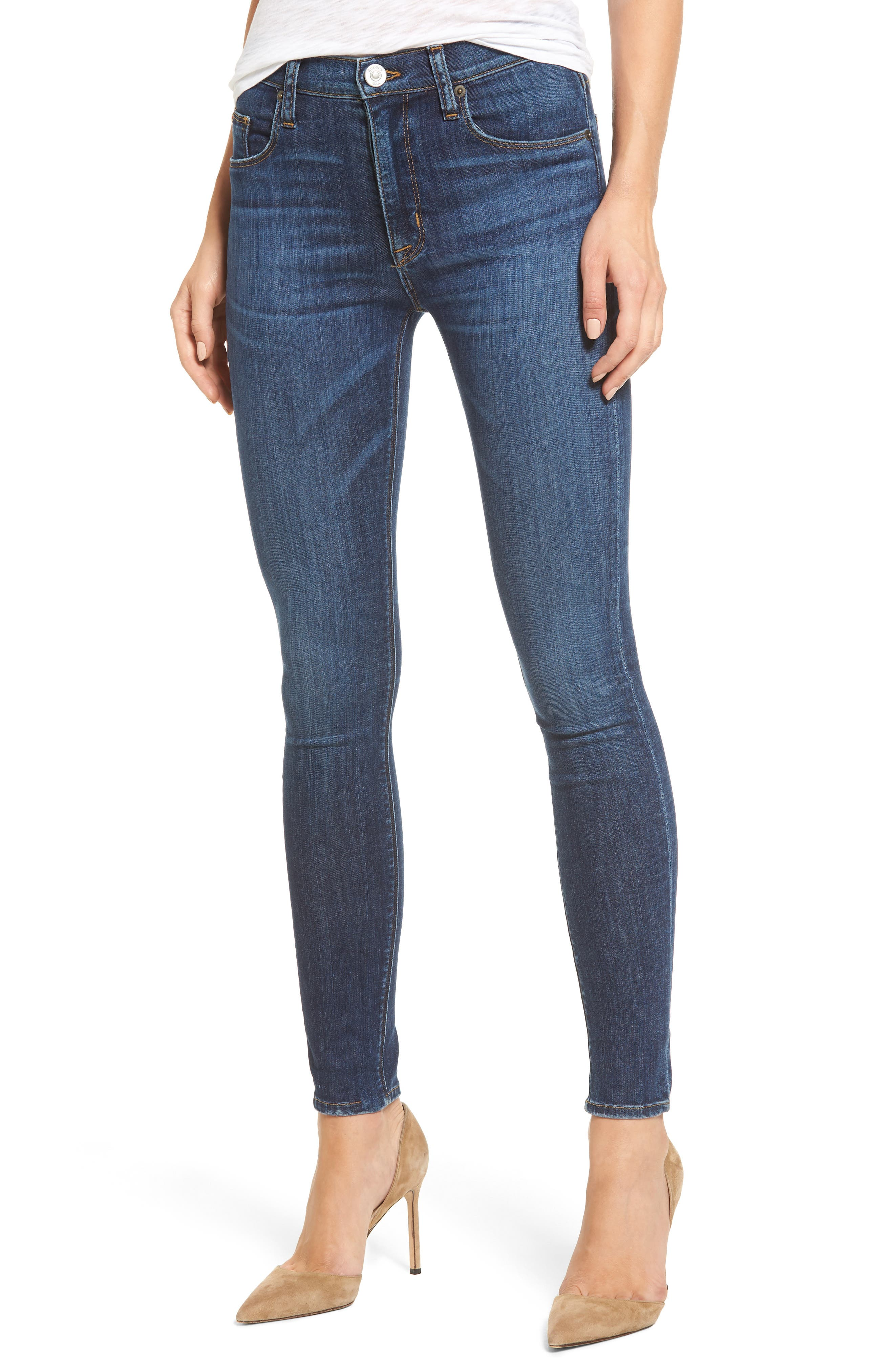 'Barbara' High Rise Super Skinny Jeans,                         Main,                         color, 401