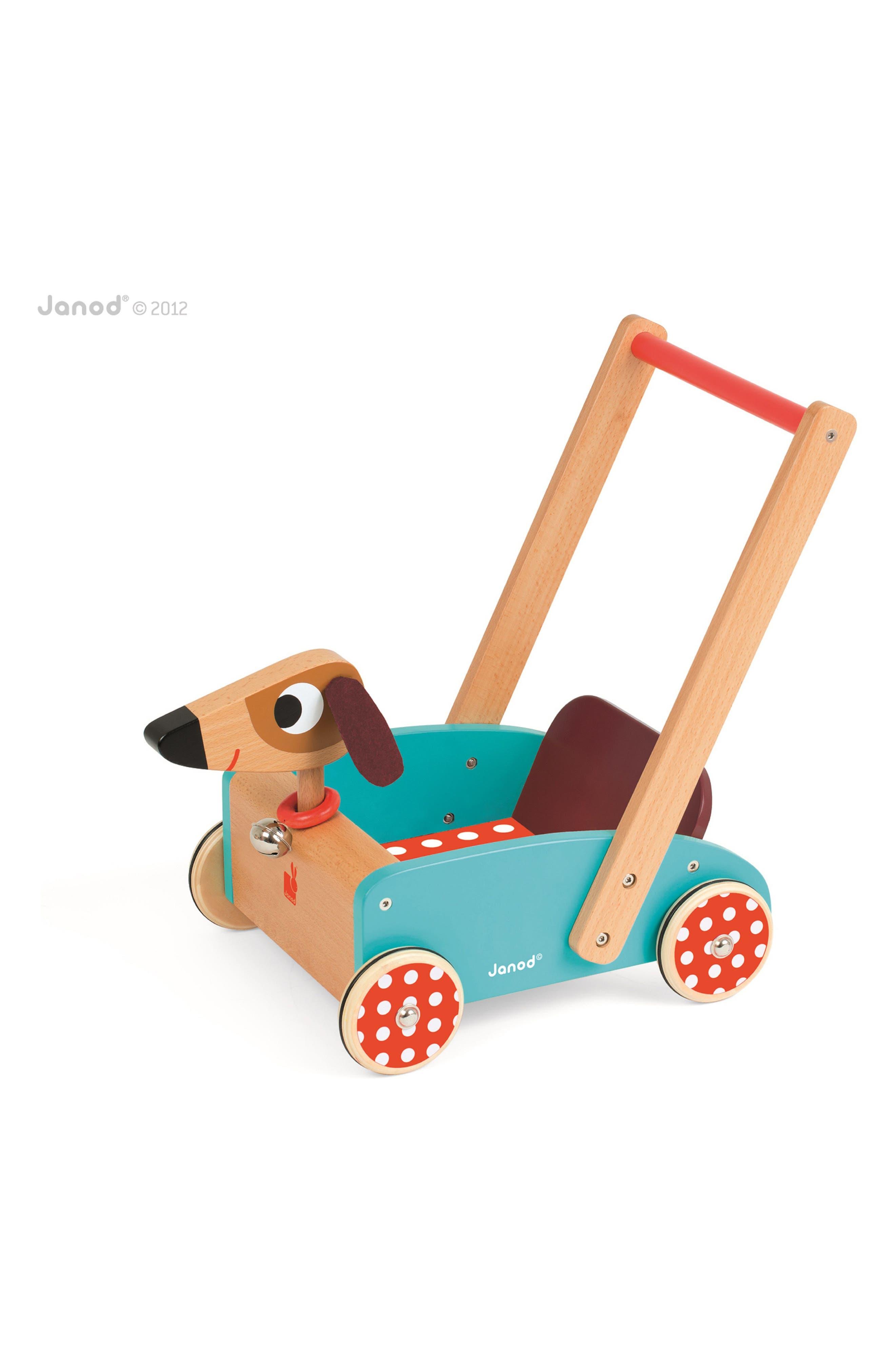 Wood Dog Cart,                         Main,                         color, MULTI