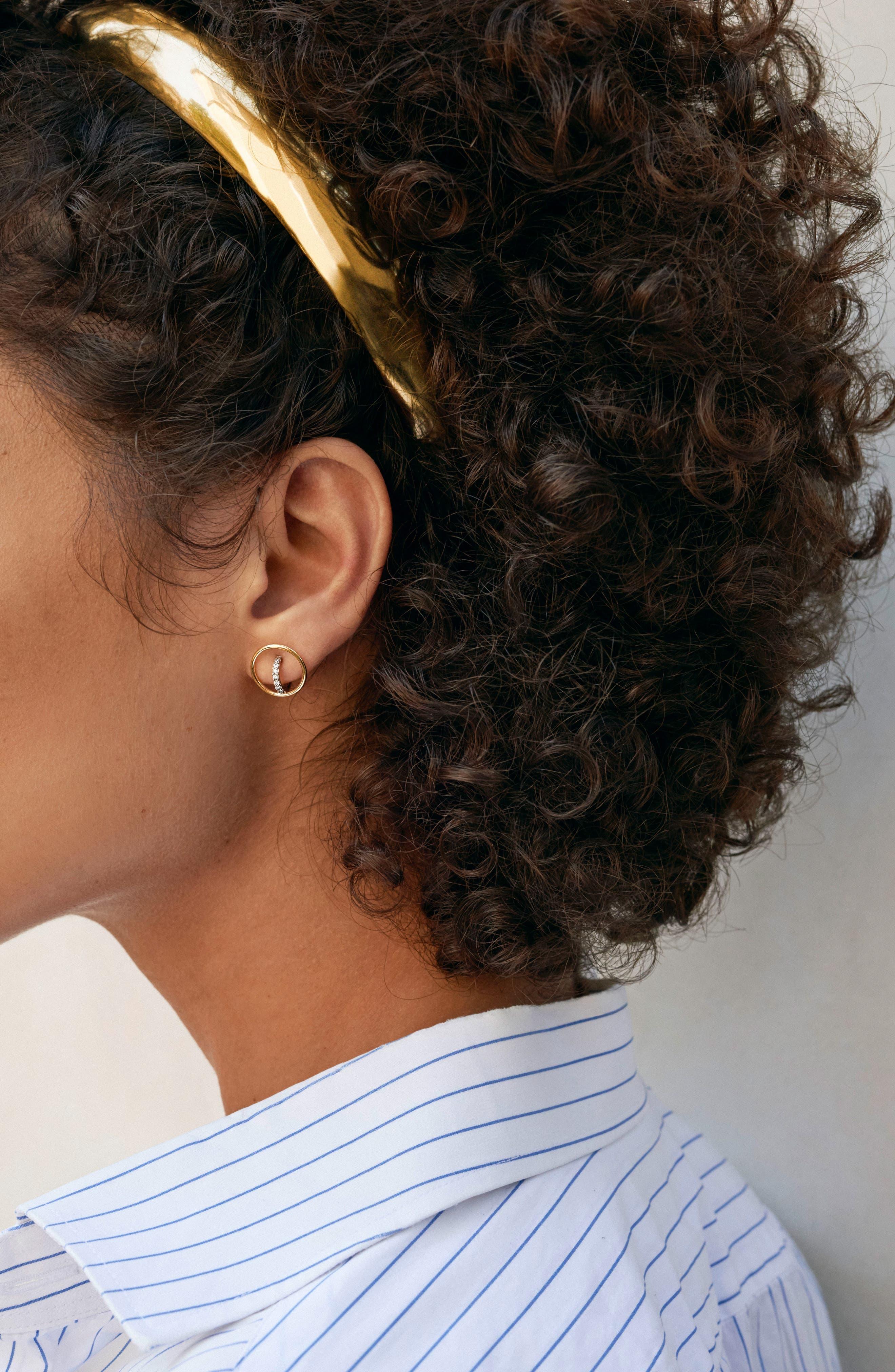Shell Vermeil Hair Clip,                             Alternate thumbnail 3, color,                             YELLOW VERMEIL