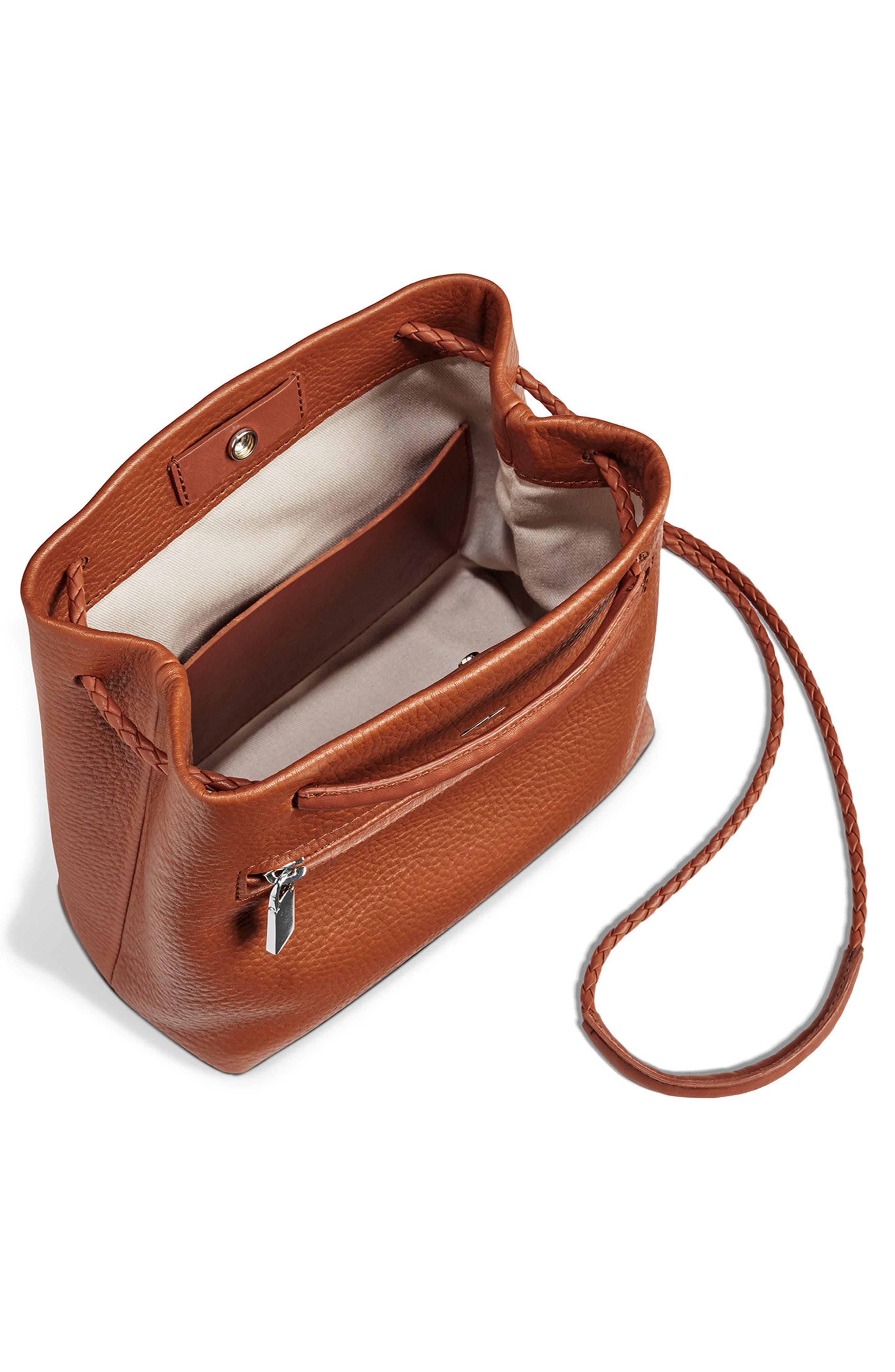 Mini Pebbled Leather Drawstring Crossbody Bag,                             Alternate thumbnail 11, color,