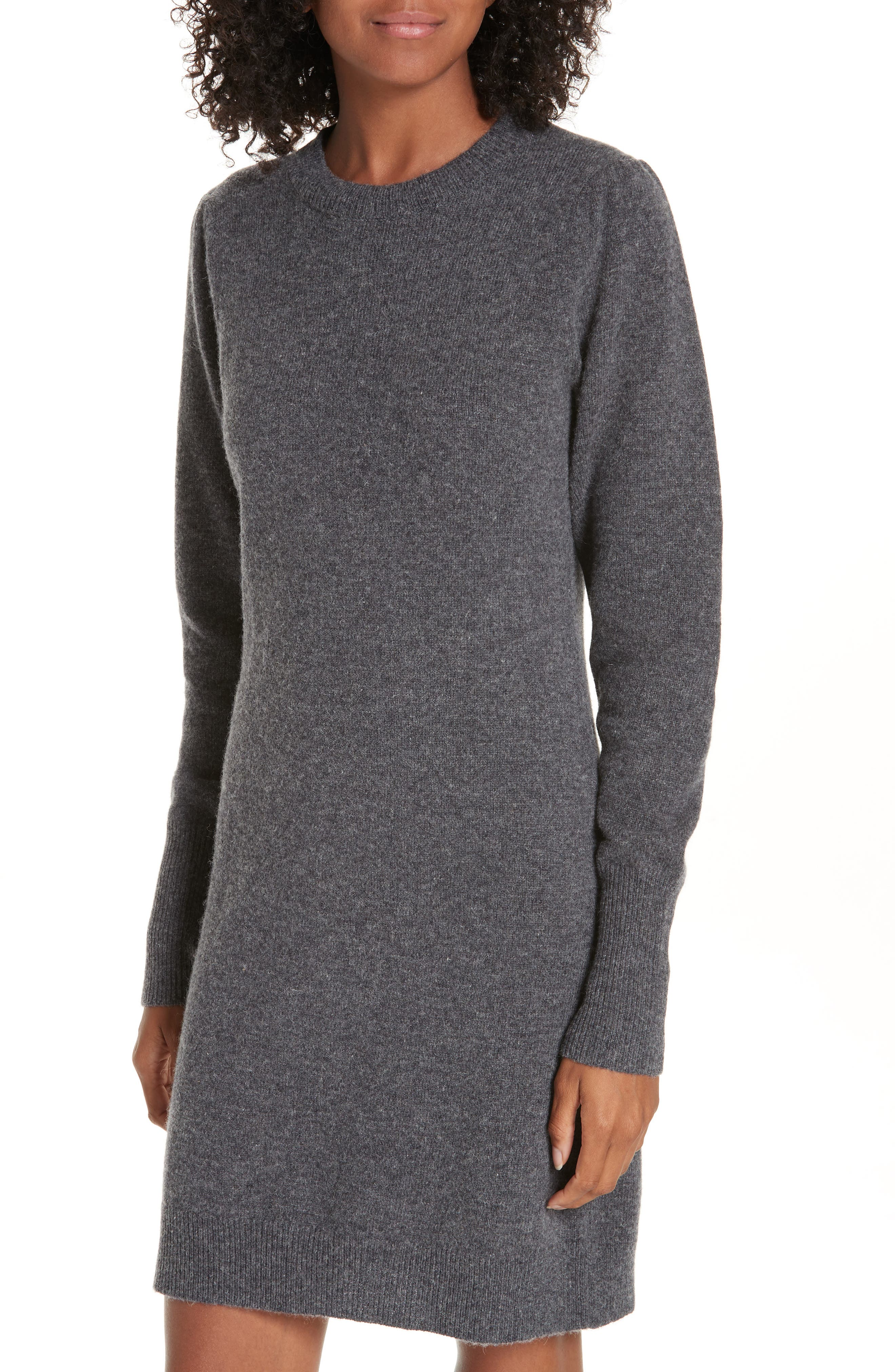 Ancolie Eyelet Collar Sweater Dress,                             Alternate thumbnail 4, color,                             020