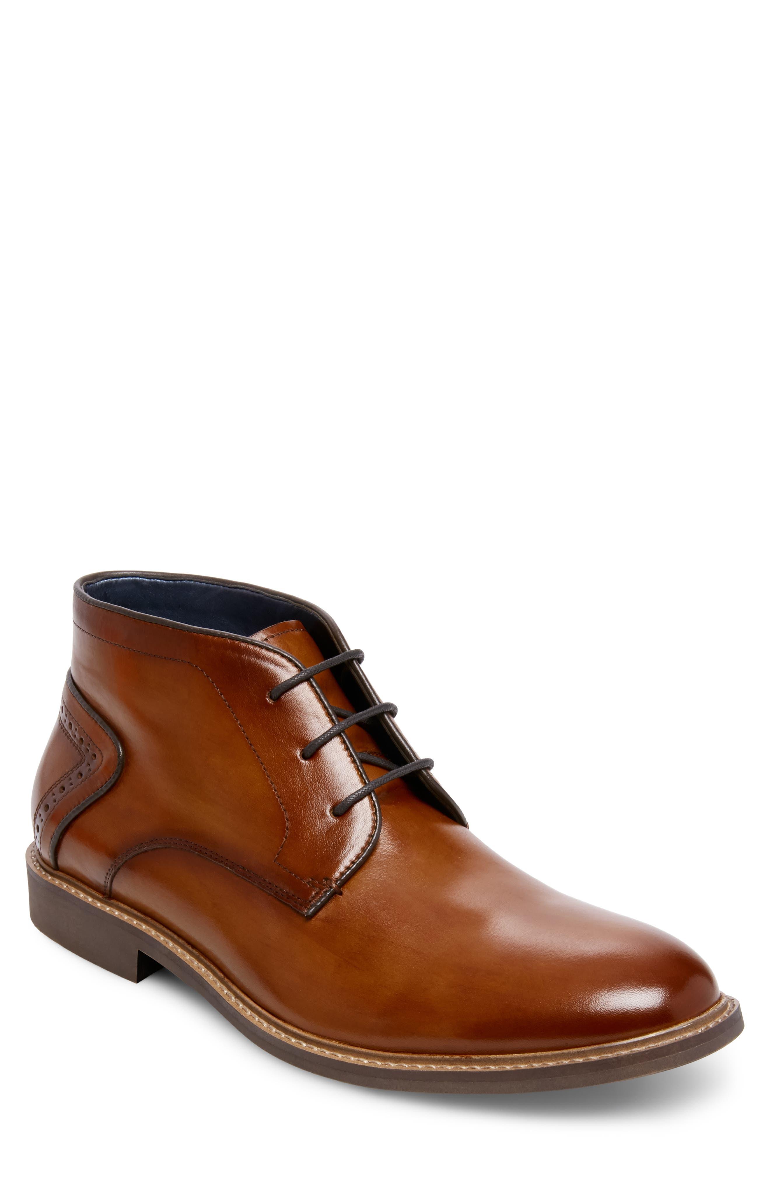 Backster Plain Toe Chukka Boot,                         Main,                         color, COGNAC LEATHER