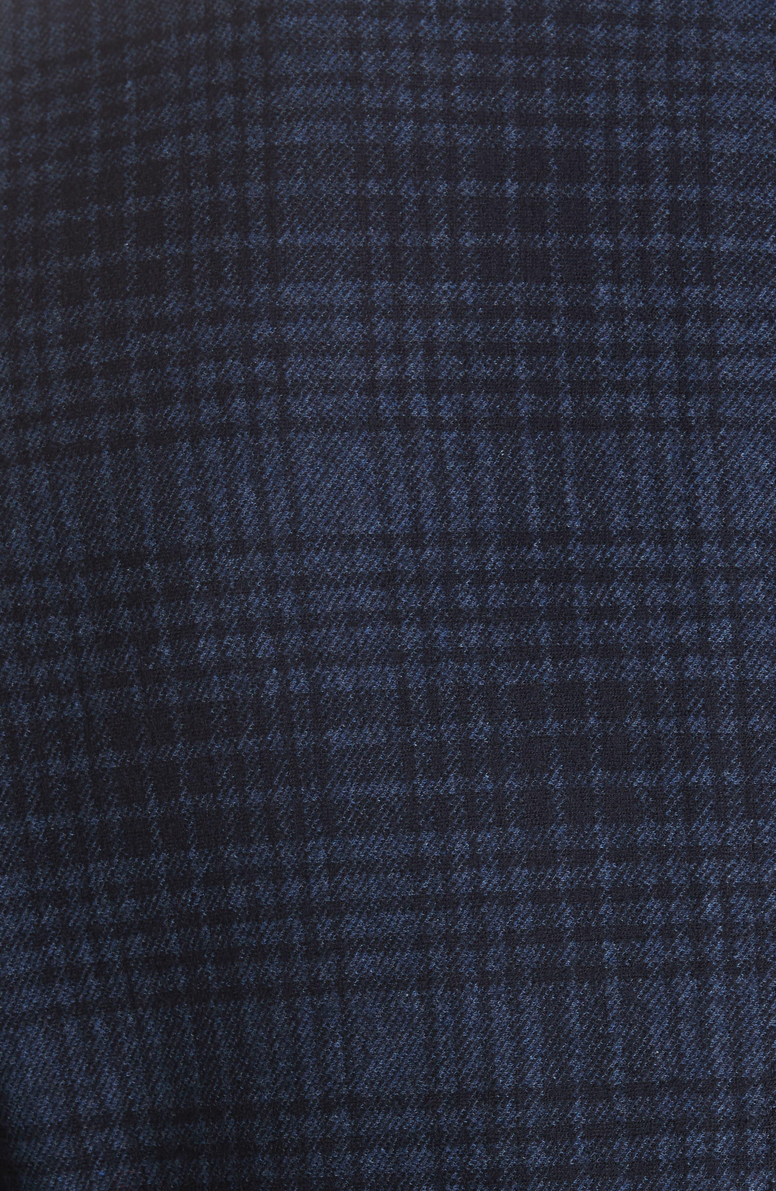 Slim Fit Plaid Wool & Cotton Sport Coat,                             Alternate thumbnail 6, color,                             400