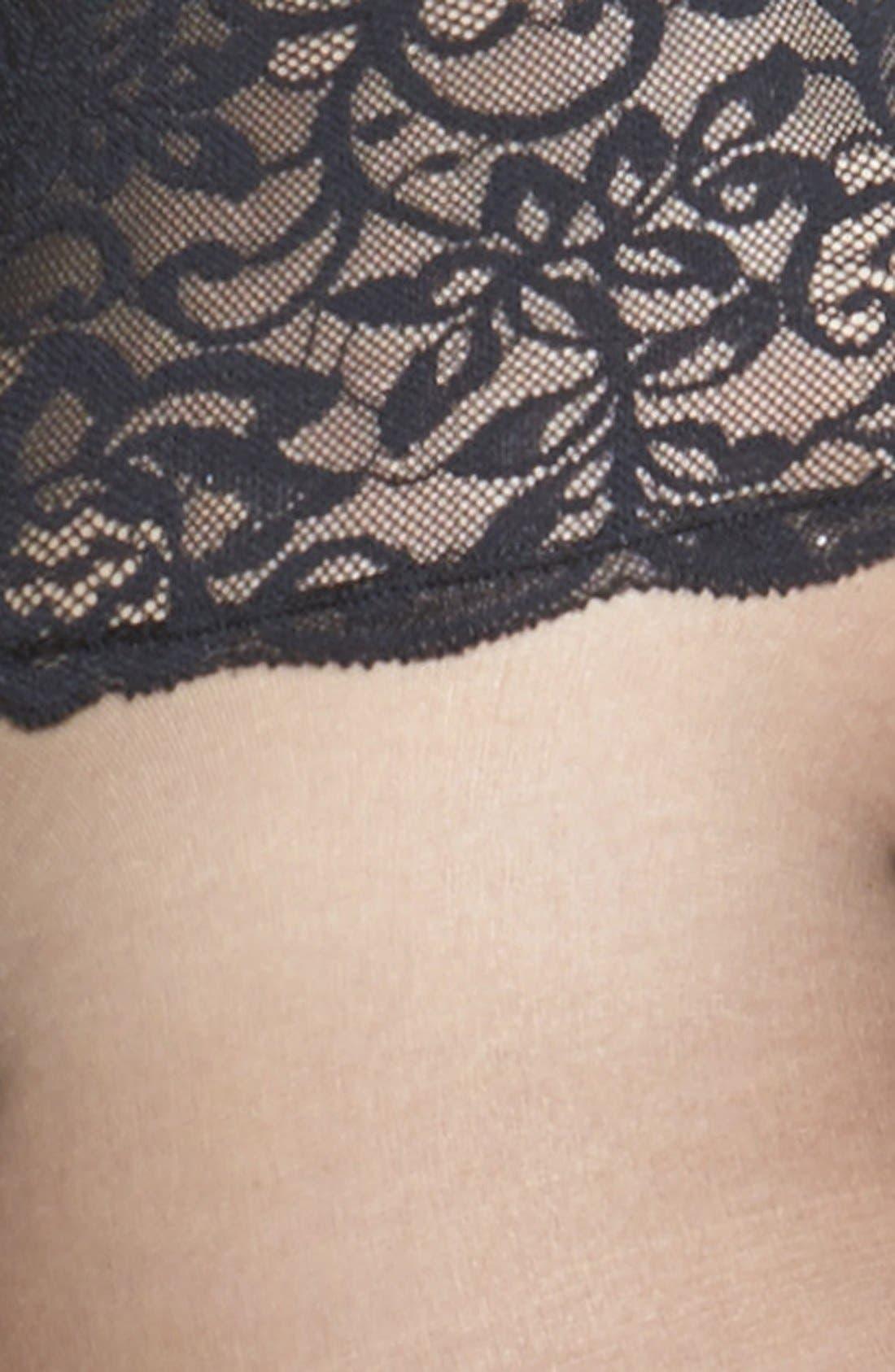 The Sexy Sheer Pantyhose,                             Alternate thumbnail 2, color,                             BLACK