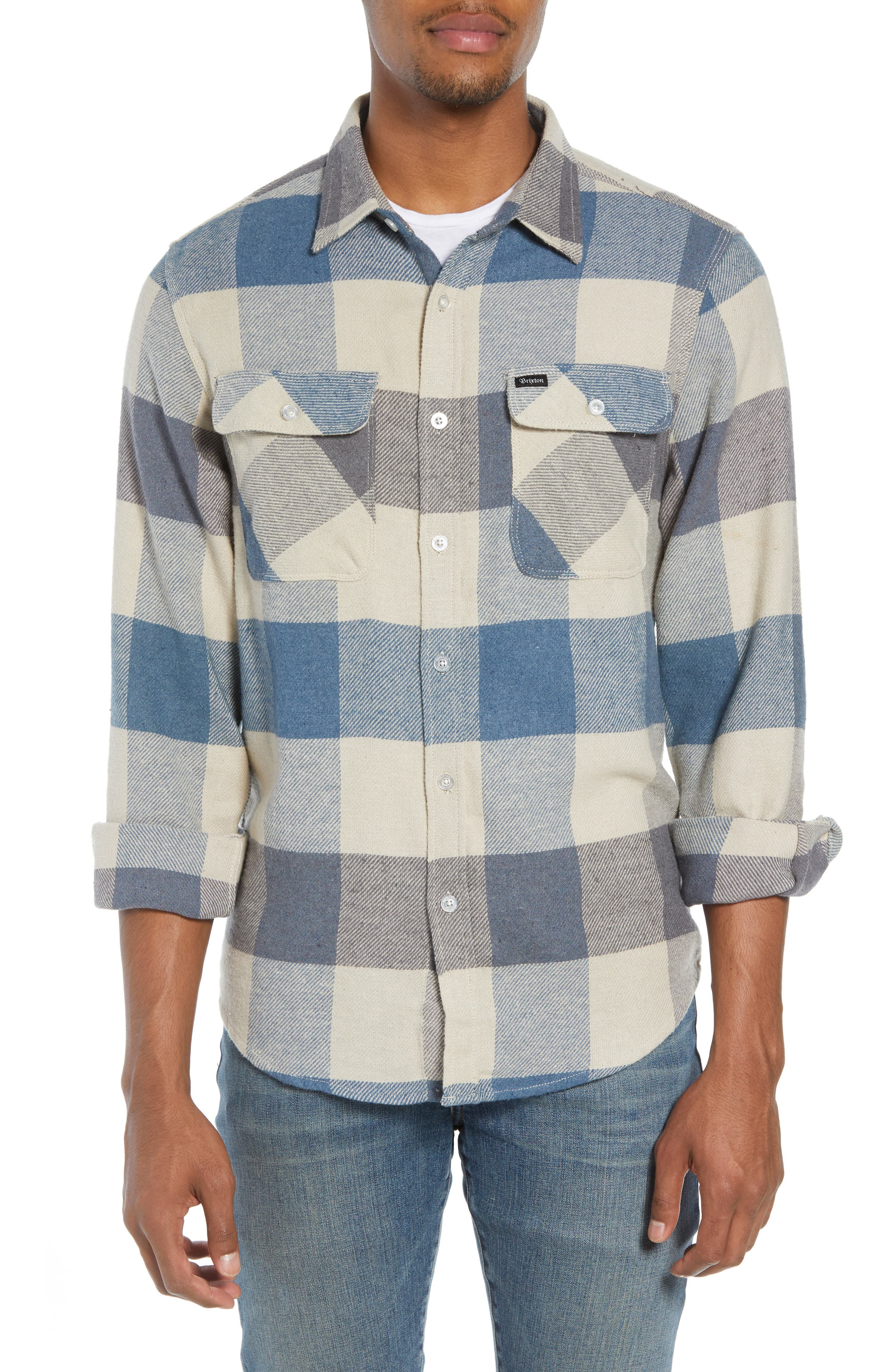 Bowery Flannel Shirt,                             Alternate thumbnail 44, color,
