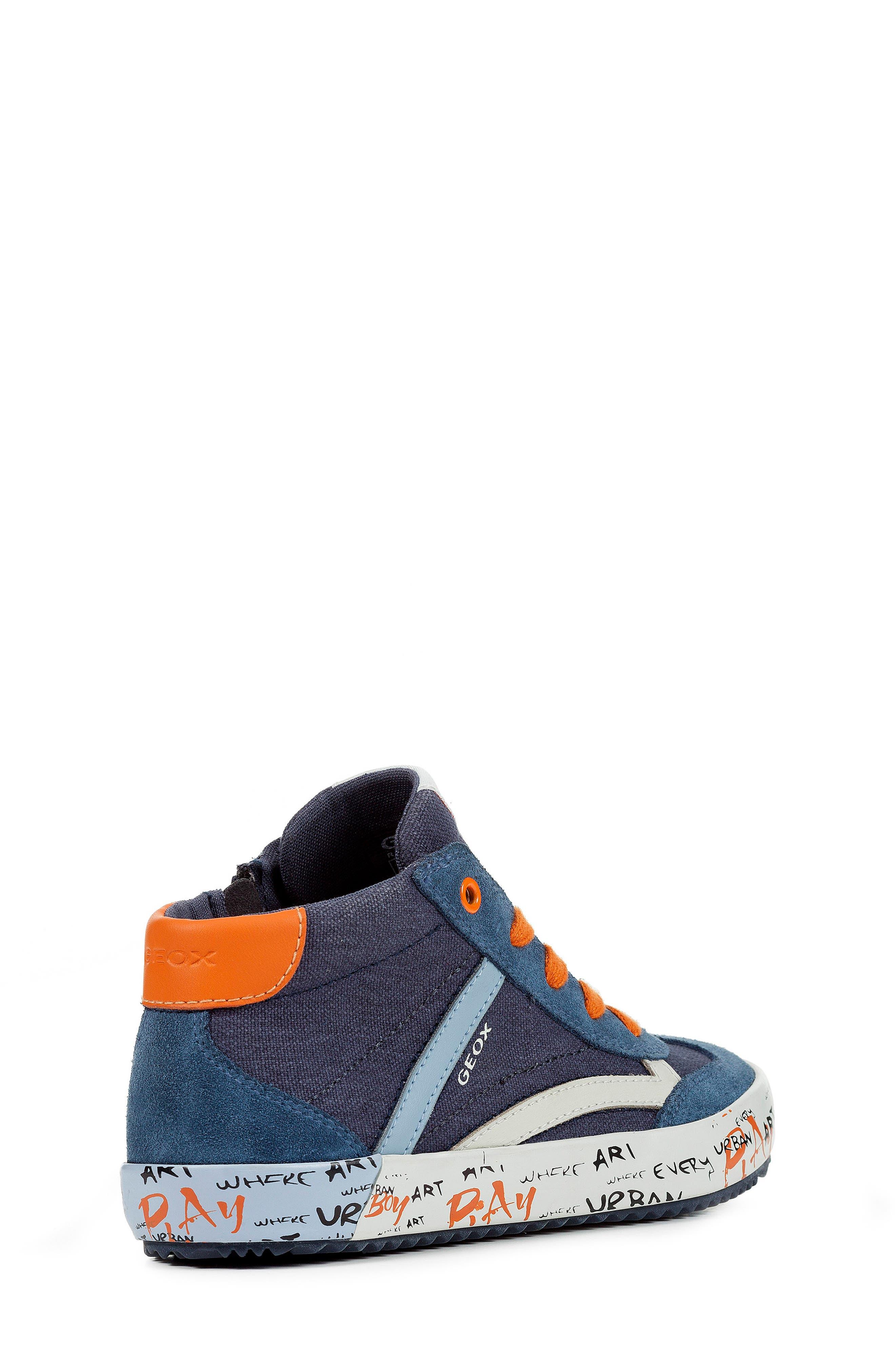 Alonisso 34 High Top Sneaker,                             Alternate thumbnail 7, color,                             NAVY/ DARK ORANGE