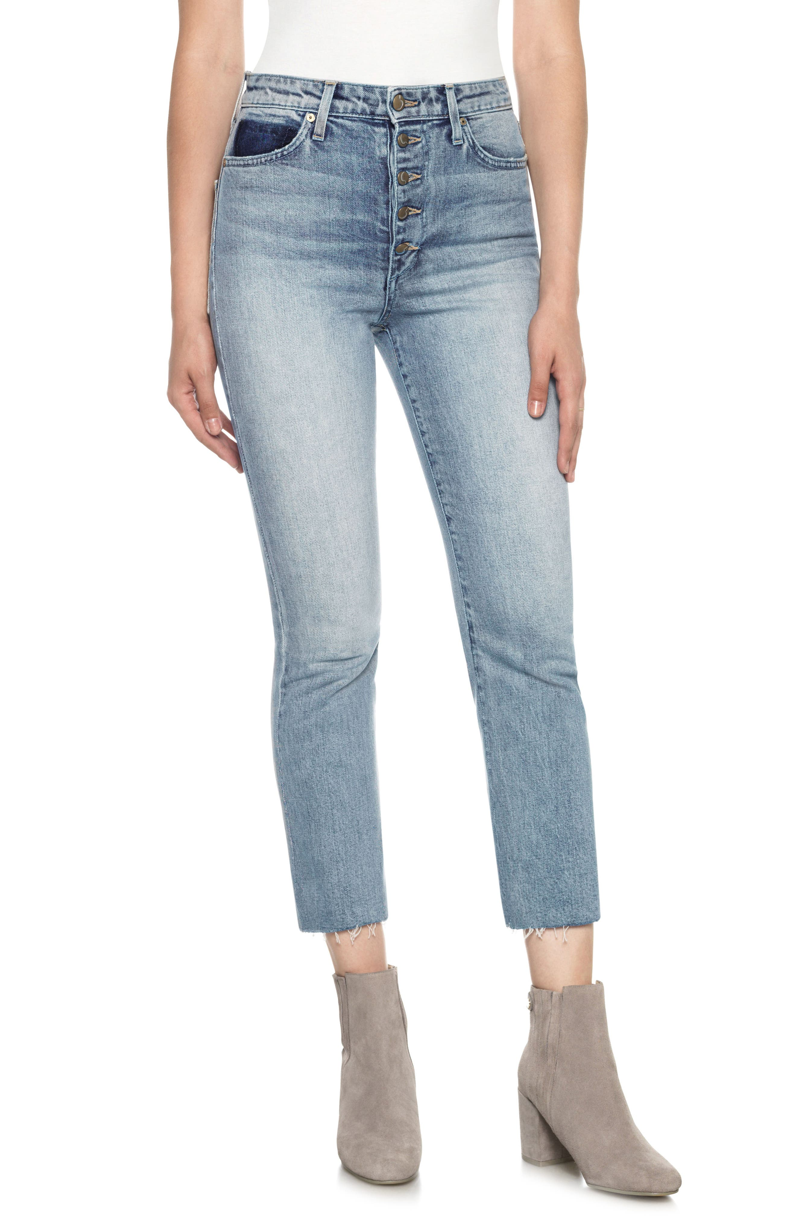 Debbie High Waist Crop Boyfriend Jeans,                         Main,                         color, 411