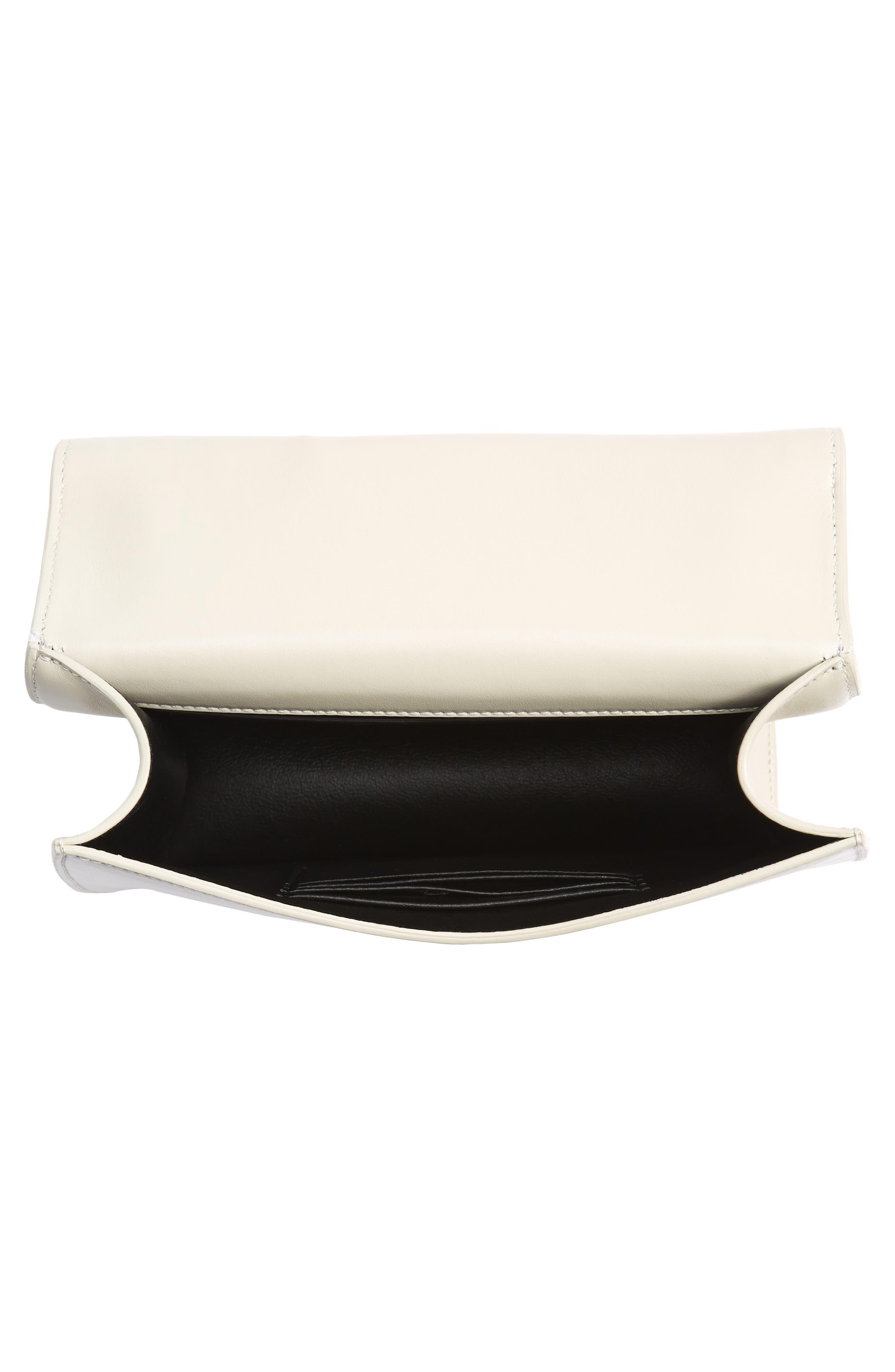 Spontini Calfskin Leather Shoulder Bag,                             Alternate thumbnail 4, color,                             CREMASOFT