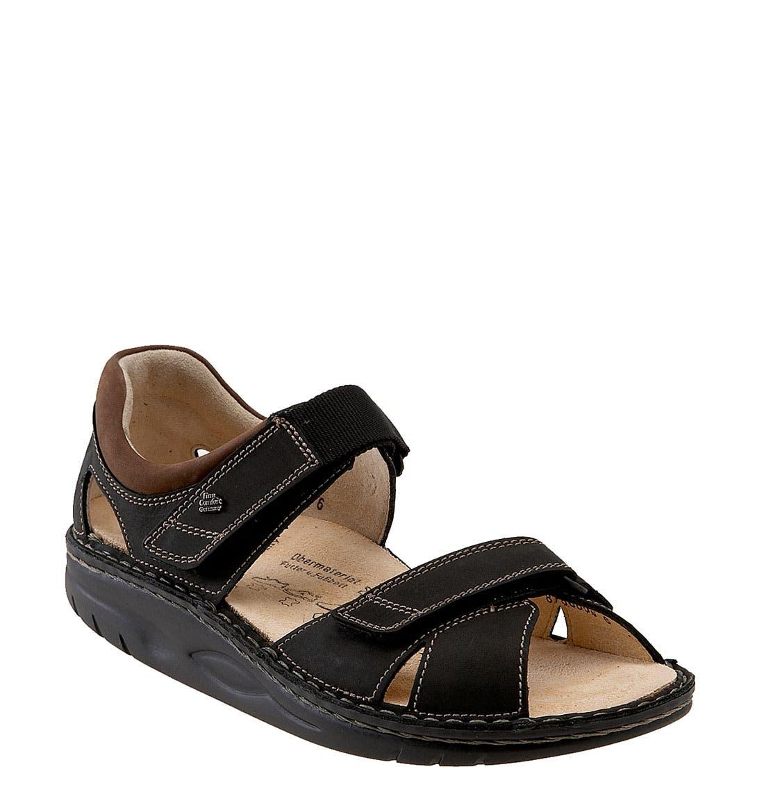 FINNAMIC by Finn Comfort 'Samara' Walking Sandal,                             Main thumbnail 1, color,                             BLACK/ HAVANA