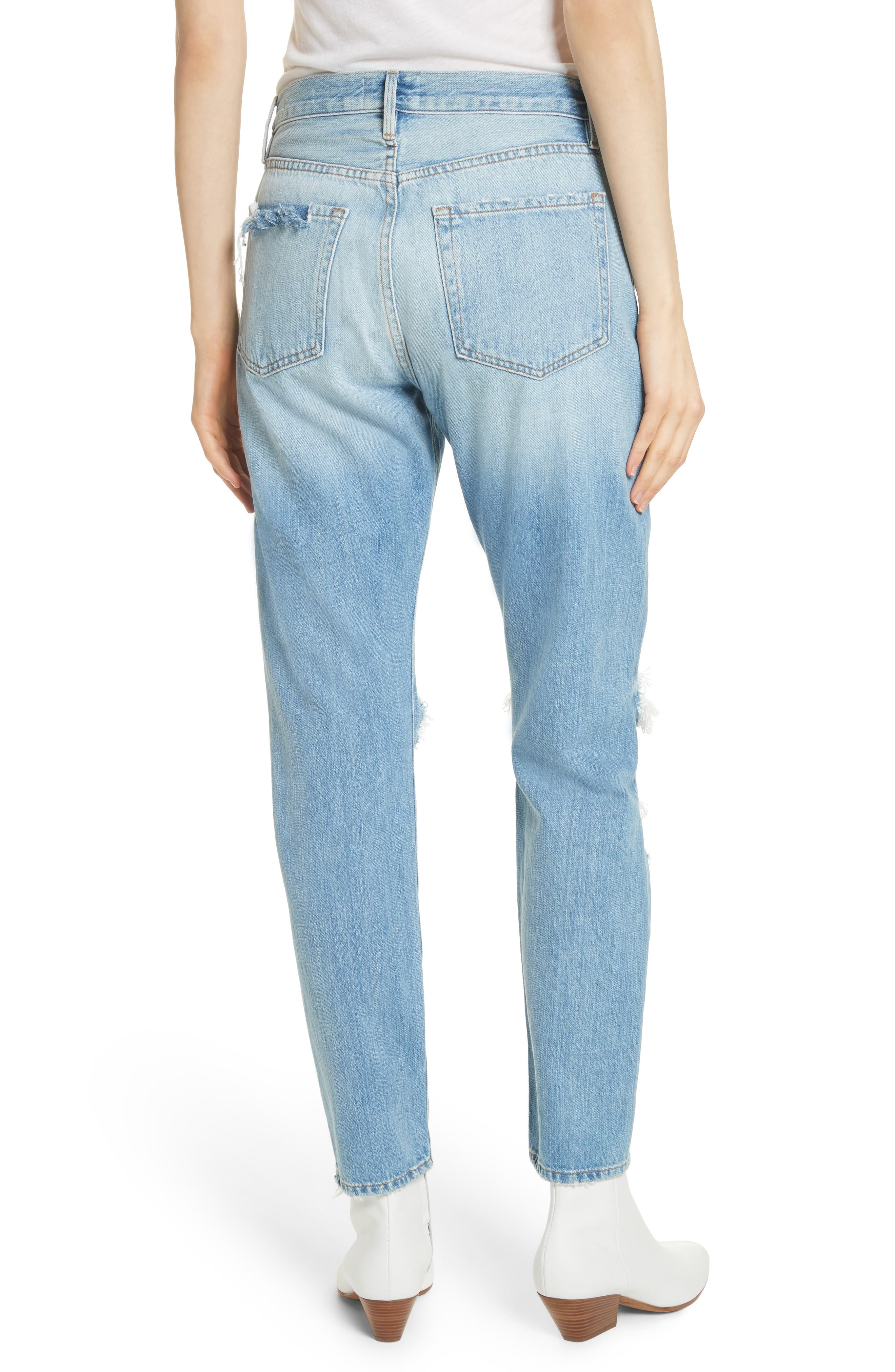 Le Original Ripped High Waist Skinny Jeans,                             Alternate thumbnail 2, color,                             POMDALE