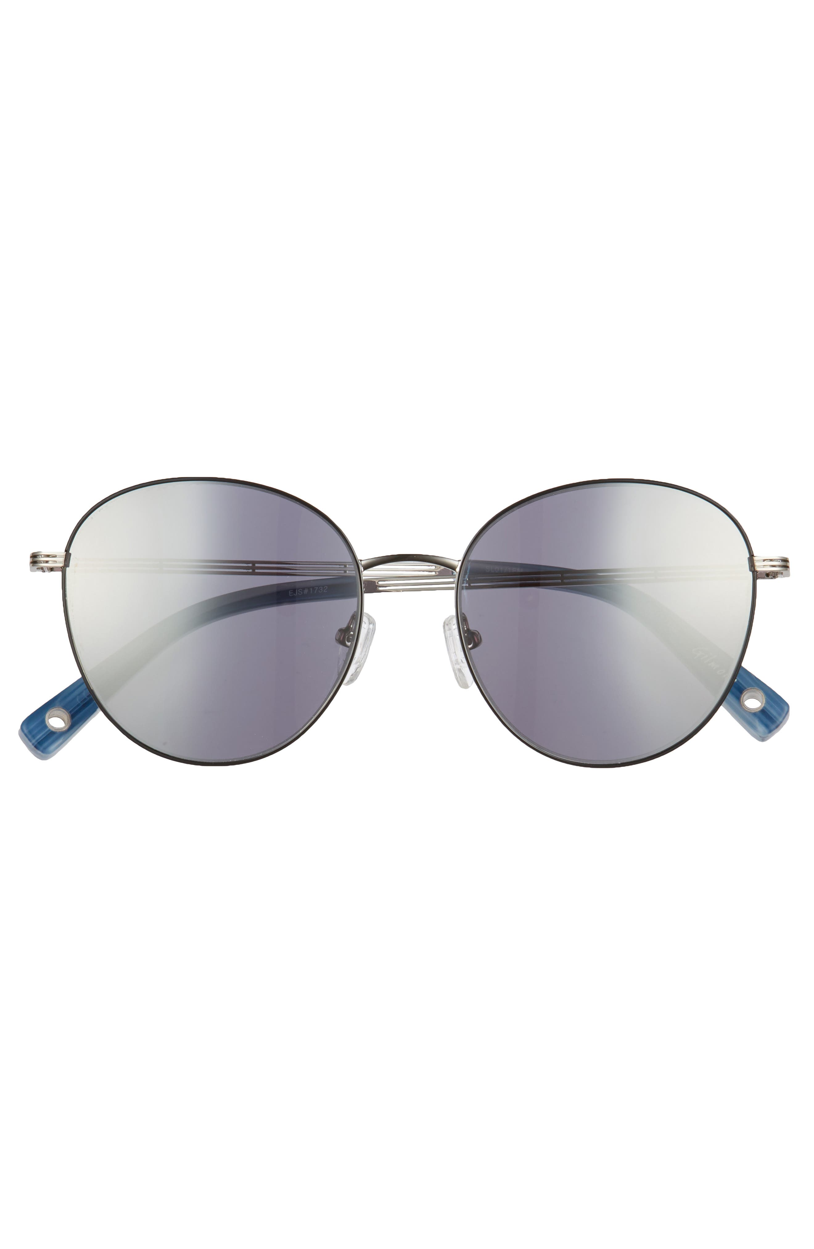 Gilmour 53mm Round Sunglasses & Beaded Chain,                             Alternate thumbnail 7, color,