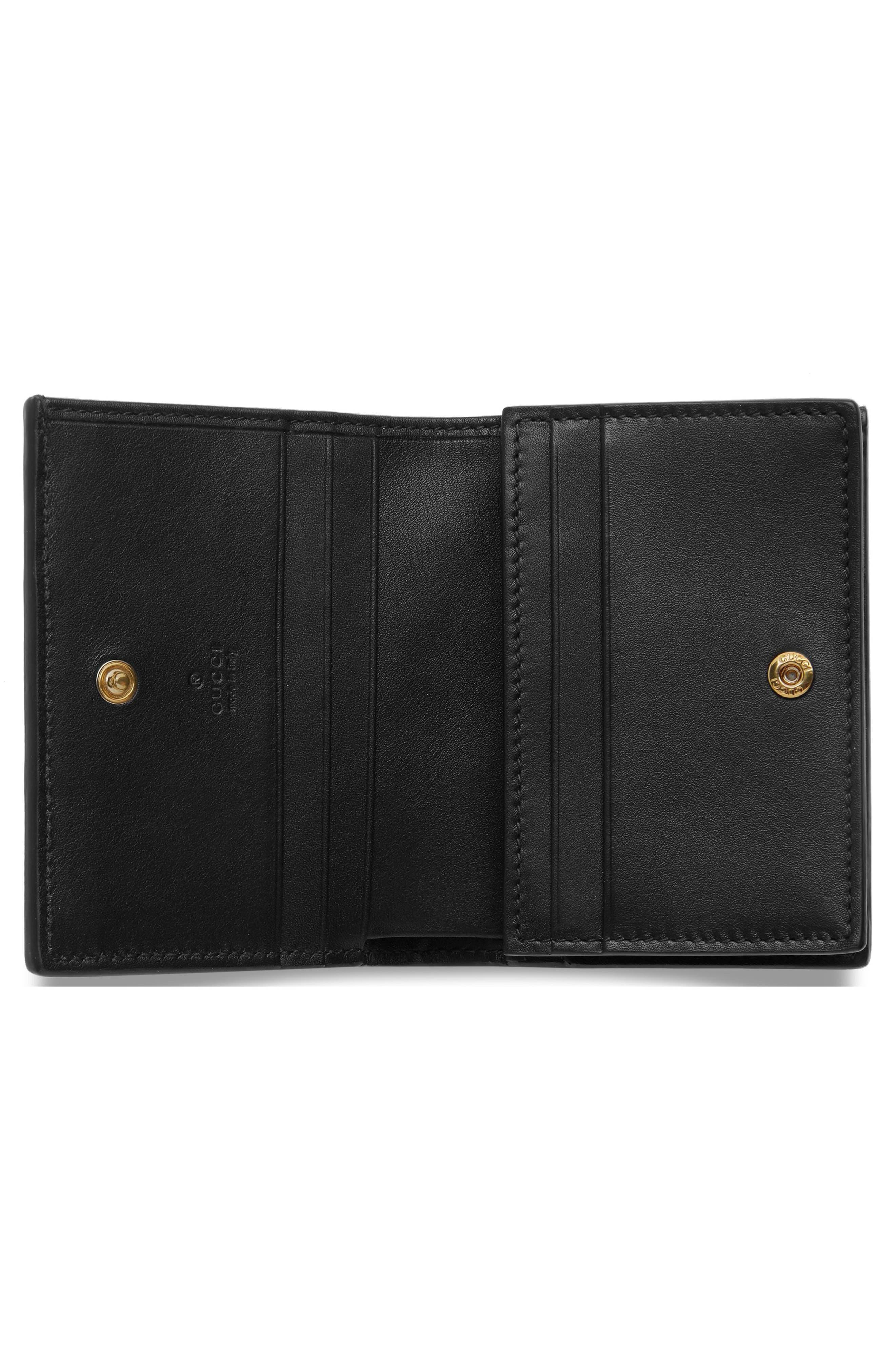 Ophidia Genuine Crocodile Card Case,                             Alternate thumbnail 2, color,                             NERO/ NERO