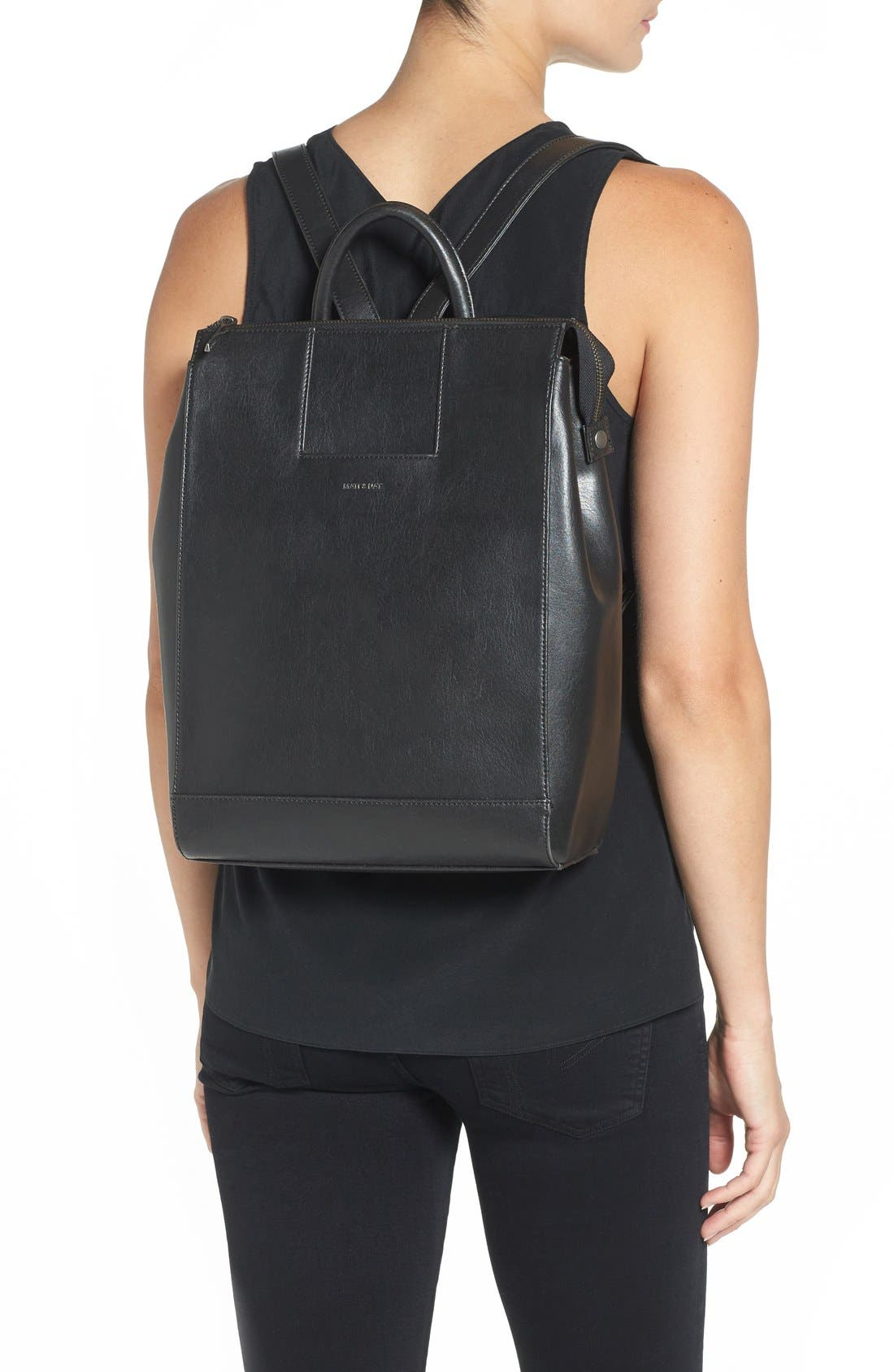 'Katherine' Faux Leather Backpack,                             Main thumbnail 2, color,