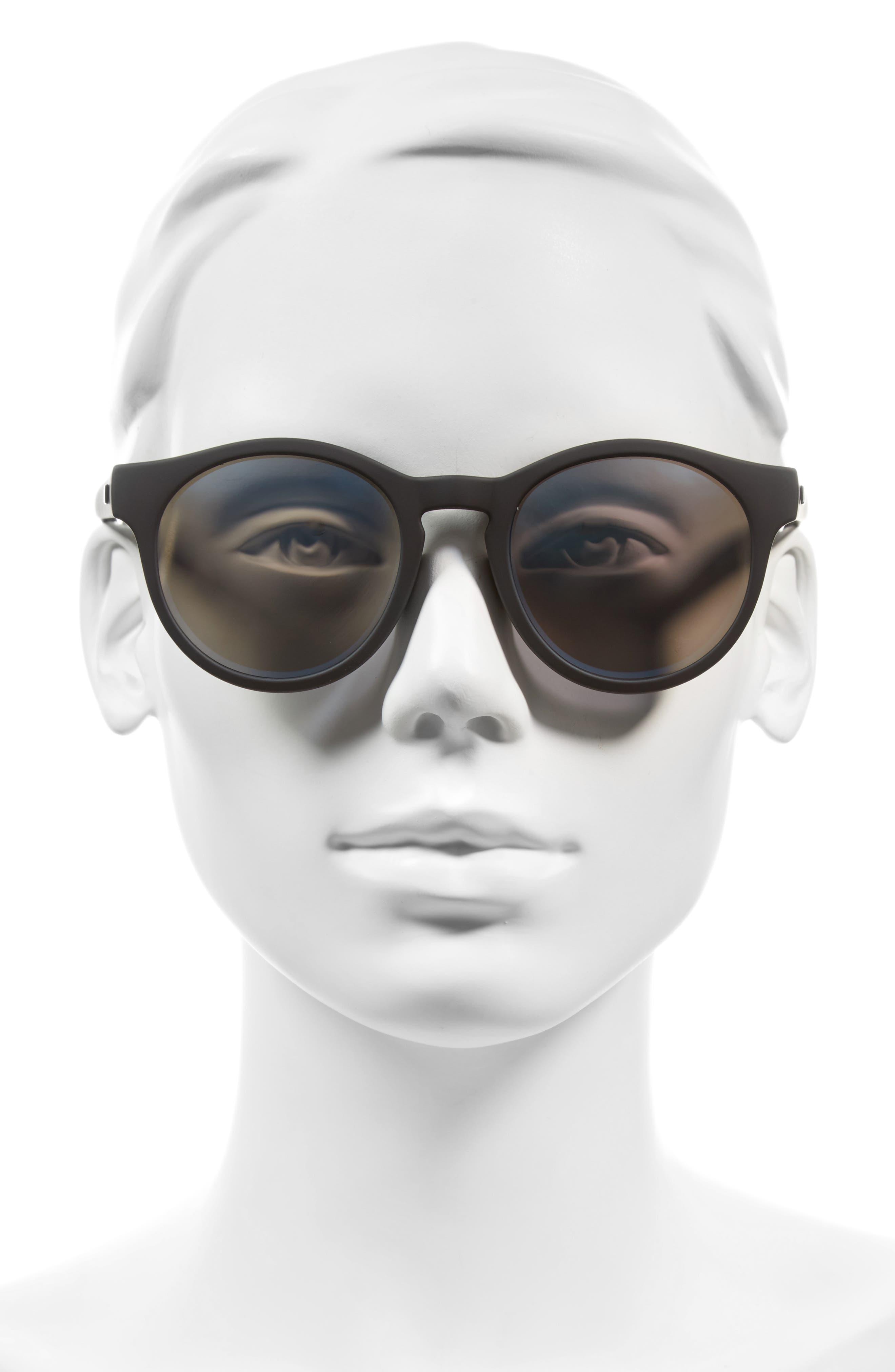 LE SPECS,                             Hey Macarena 51mm Polarized Retro Sunglasses,                             Alternate thumbnail 3, color,                             001
