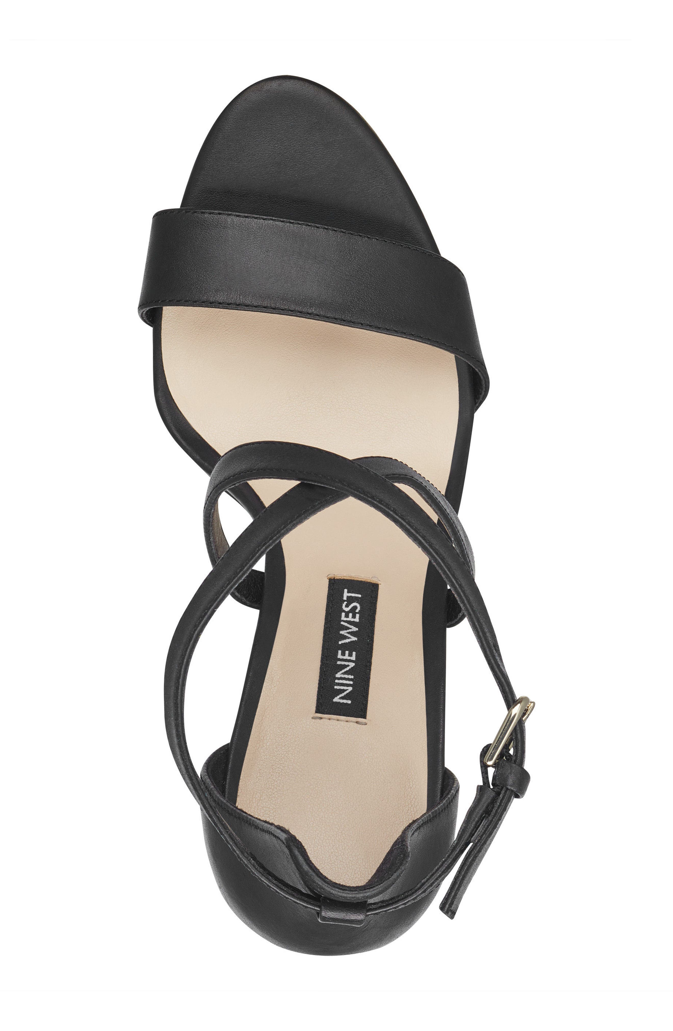 Mydebut Strappy Sandal,                             Alternate thumbnail 5, color,                             BLACK LEATHER