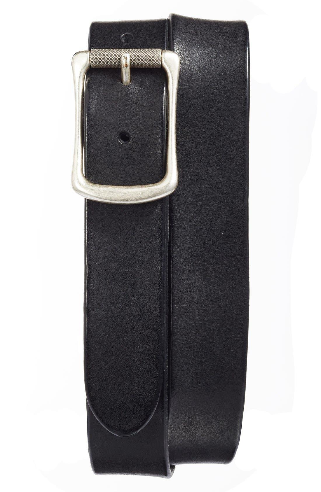Engineer Leather Belt,                             Alternate thumbnail 4, color,                             001