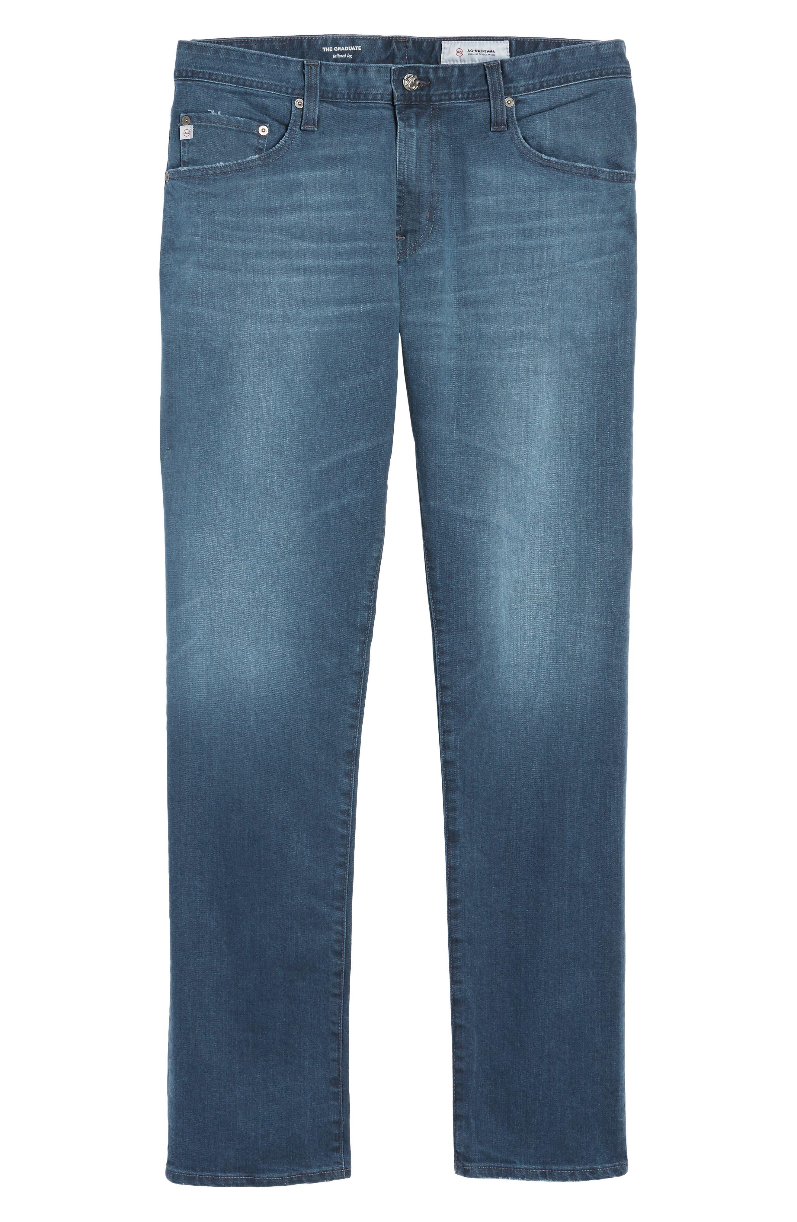 Graduate Slim Straight Leg Jeans,                             Alternate thumbnail 6, color,                             7 YEARS BLUE PERIL